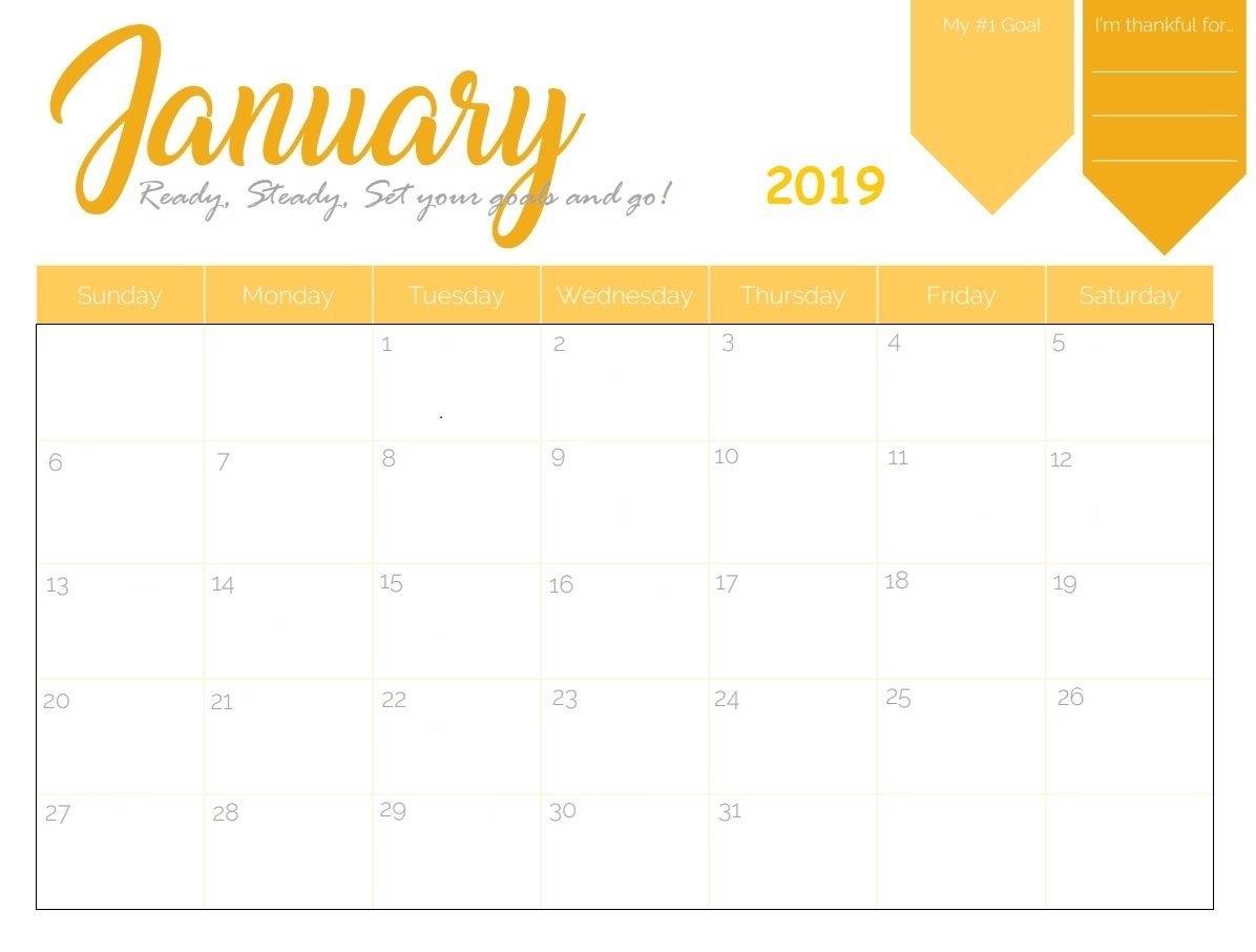 Free Printable 2019 January Calendar   Calendar 2018   2019 Calendar Calendar 2019 Maker