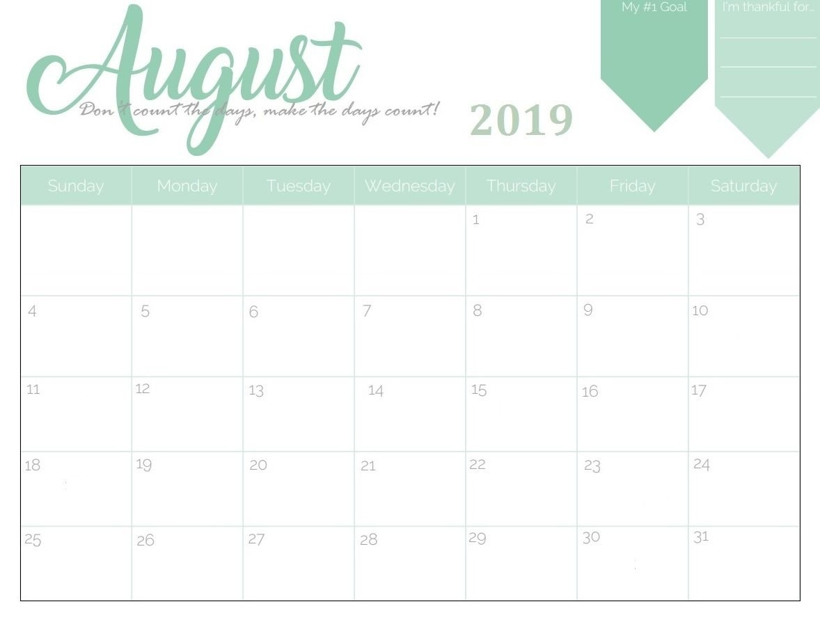 Get Free August 2019 Blank Calendar   Free Online Calendars Calendar 2019 To Buy