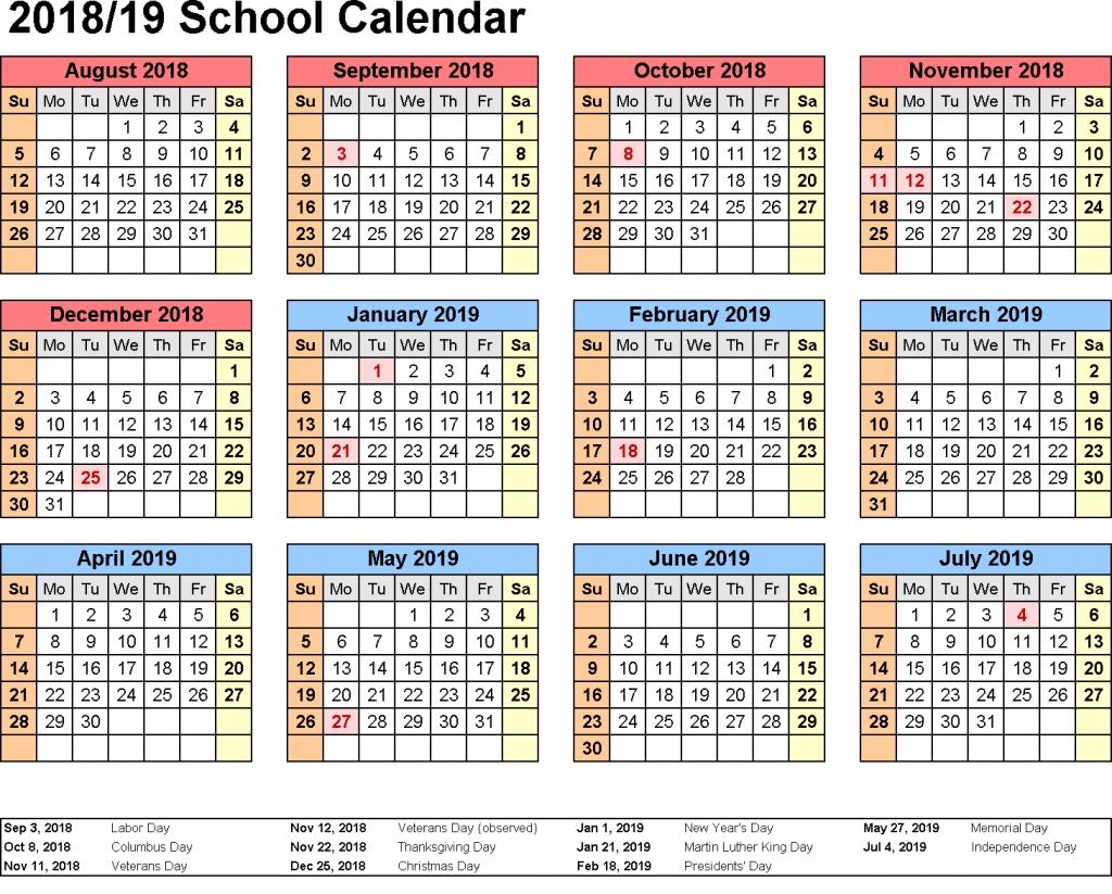 Get Free Kuwait School Holidays 2019 Printable Calendar | Holidays 2019 Calendar Qld Template