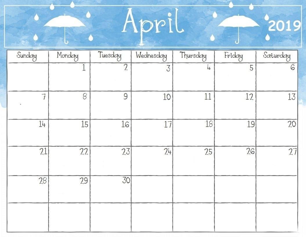 Get Free Printable April 2019 A4 Calendar Download – Blank Calendar 2019 April 9 2019 Calendar
