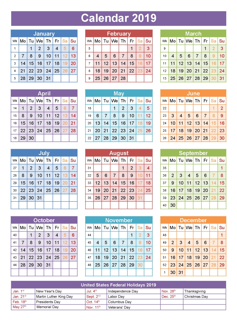 Get Free Printable National Holidays 2019 Qld Calendar   Holidays Calendar 2019 National Holidays