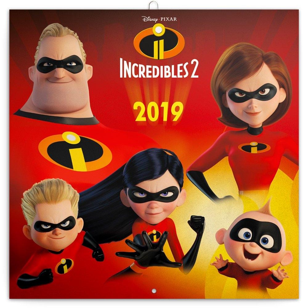 Grid Calendar Incredibles 2 2019, 30 X 30 Cm   Presco.cz Incredibles 2 Calendar 2019