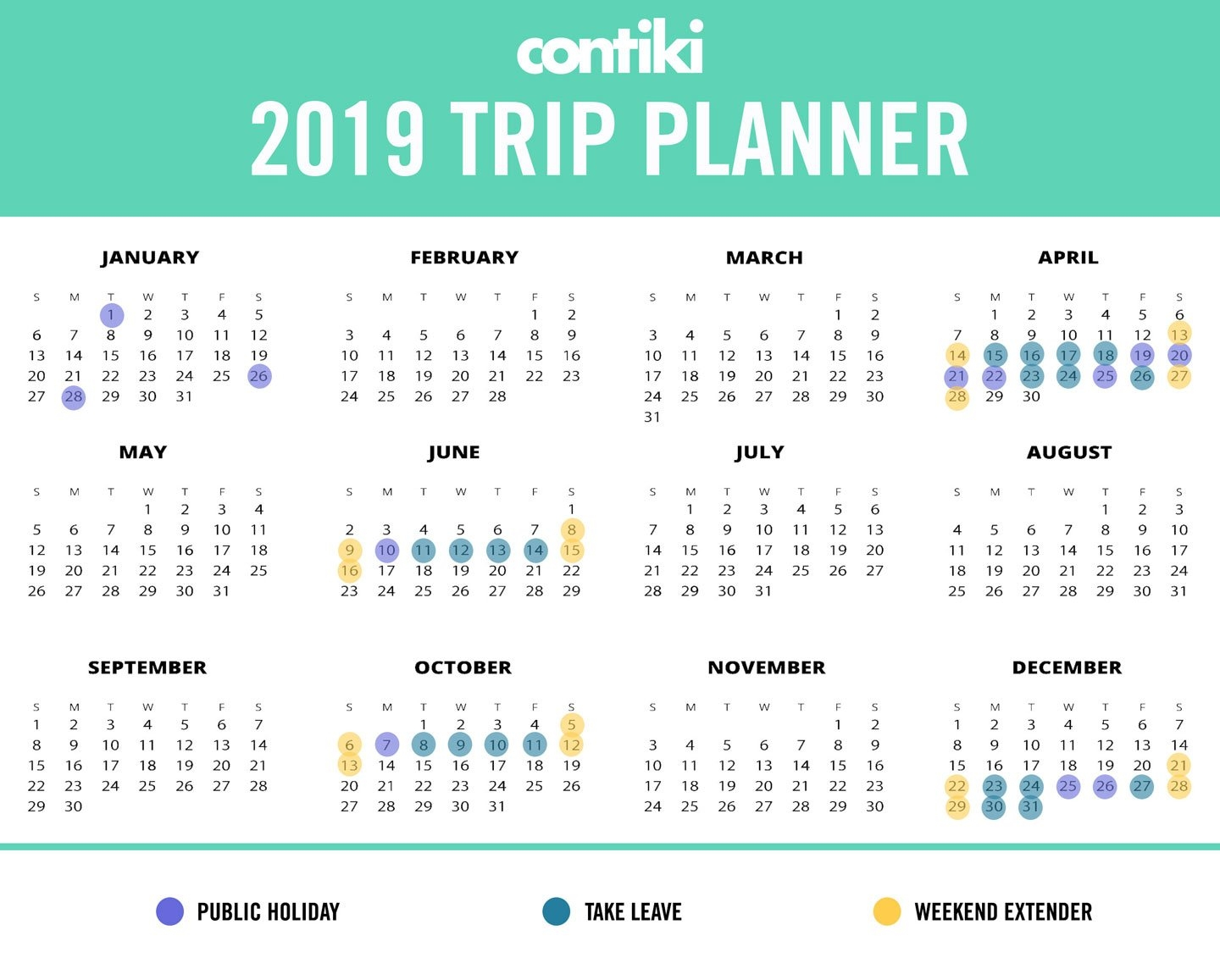 Hack Your Annual Leave And Turn 20 Days Of Leave Into 45 Days Of Calendar 2019 Leave