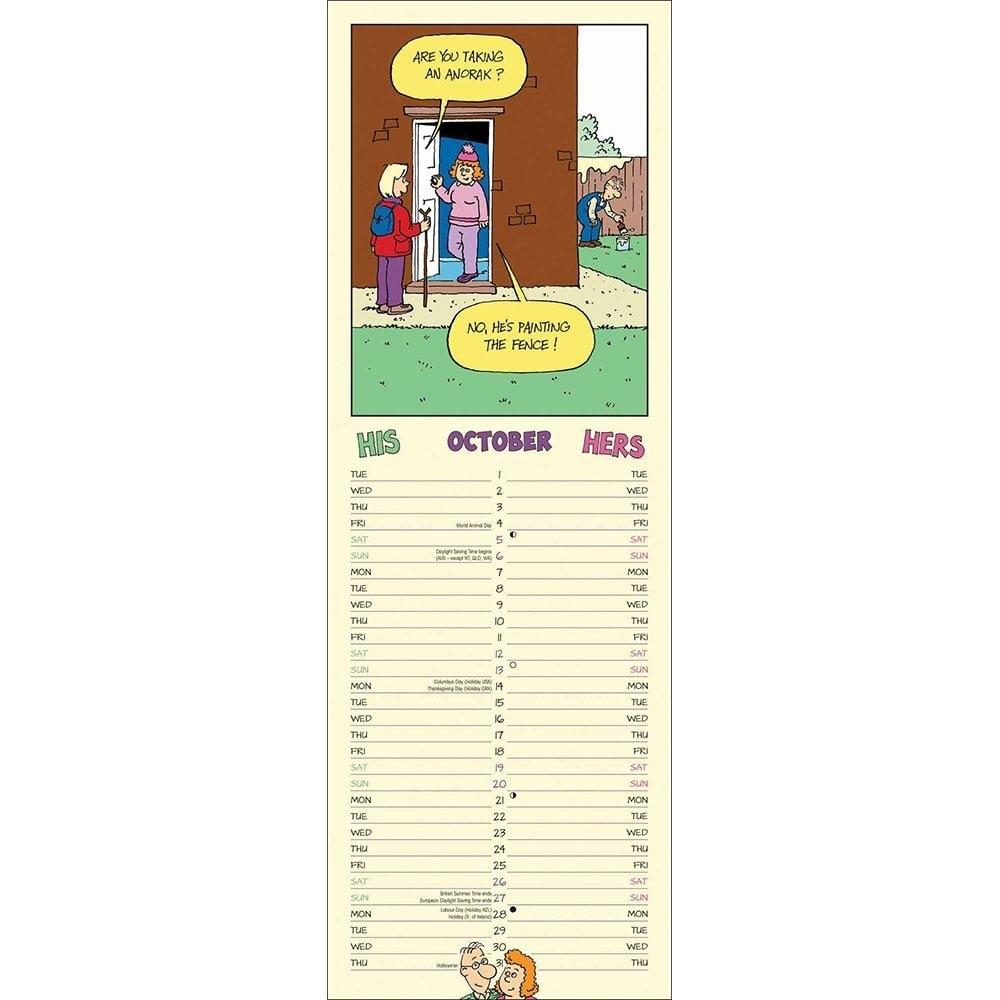His N Hers Derek & Madge Slim Planner 2019 102159 His N Hers Calendar 2019