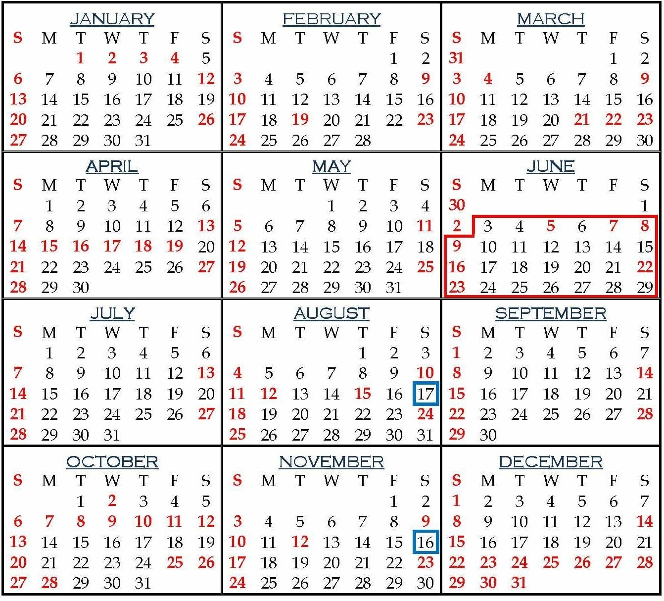 Holiday List For Employees Of Punjab And Haryana High Court, 2019 U Of H Calendar 2019