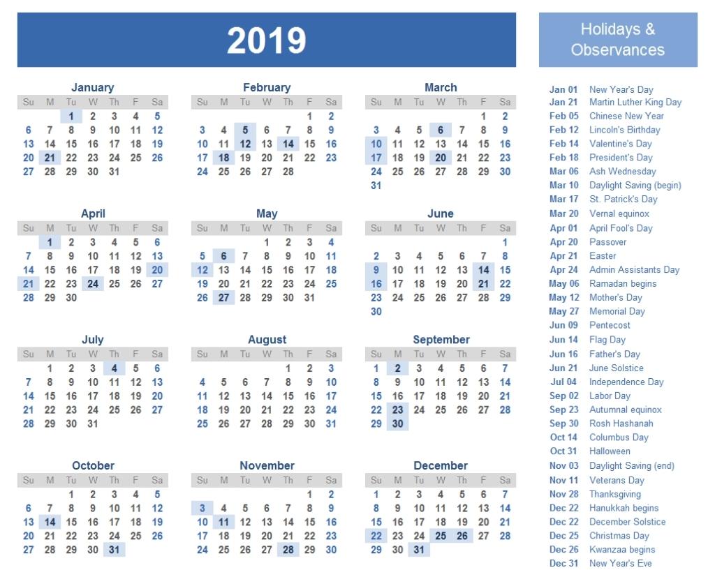 Holidays Calendar Qld 2019 • Printable Blank Calendar Template Calendar 2019 Bank Holidays
