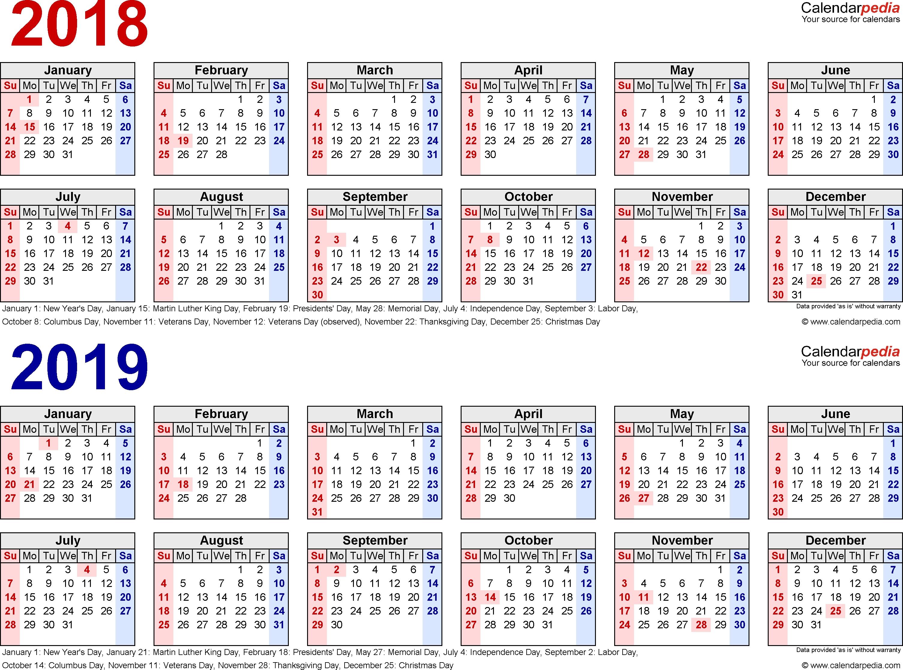 Image Result For Free Printable 2018 /2019 Calendar   Printable Calendar 2019 Za Printanje