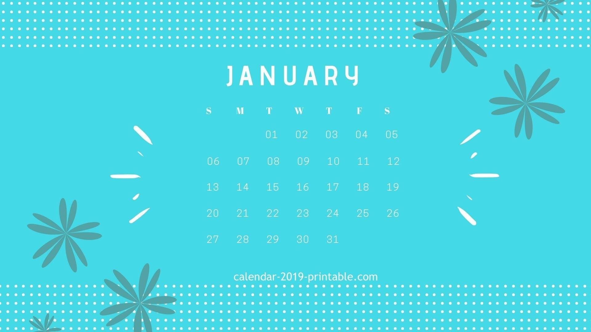 January 2019 Calendar Desktop Wallpapers Calendar 2019 Calendar 2019 Desktop