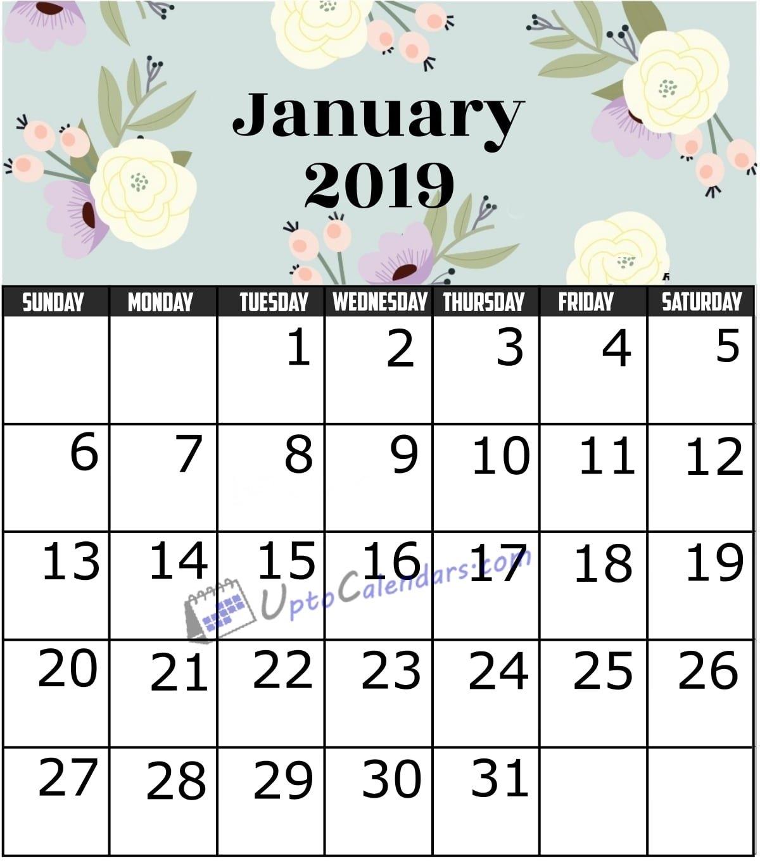 January 2019 Calendar Printable Template With Holidays Pdf Word January 9 2019 Calendar