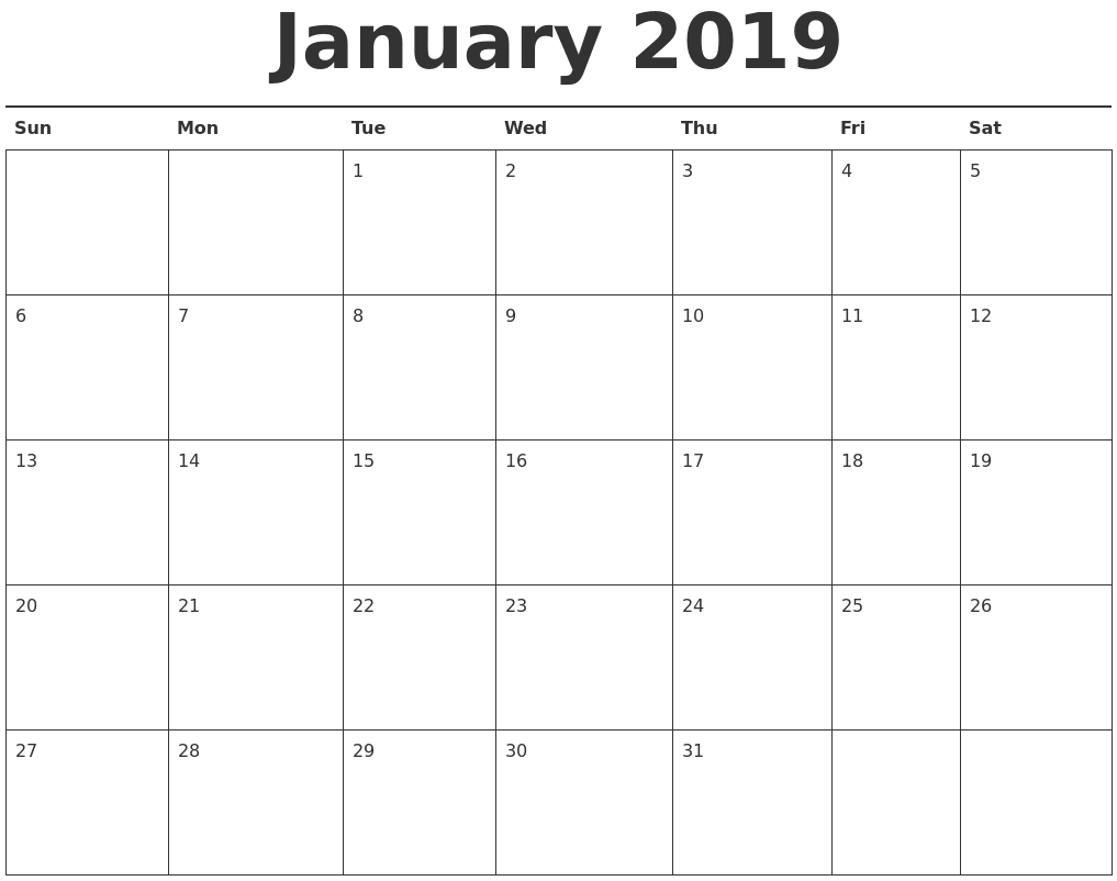January 2019 Calendar Word Doc – Task Management Template Worksheet Calendar 2019 Doc