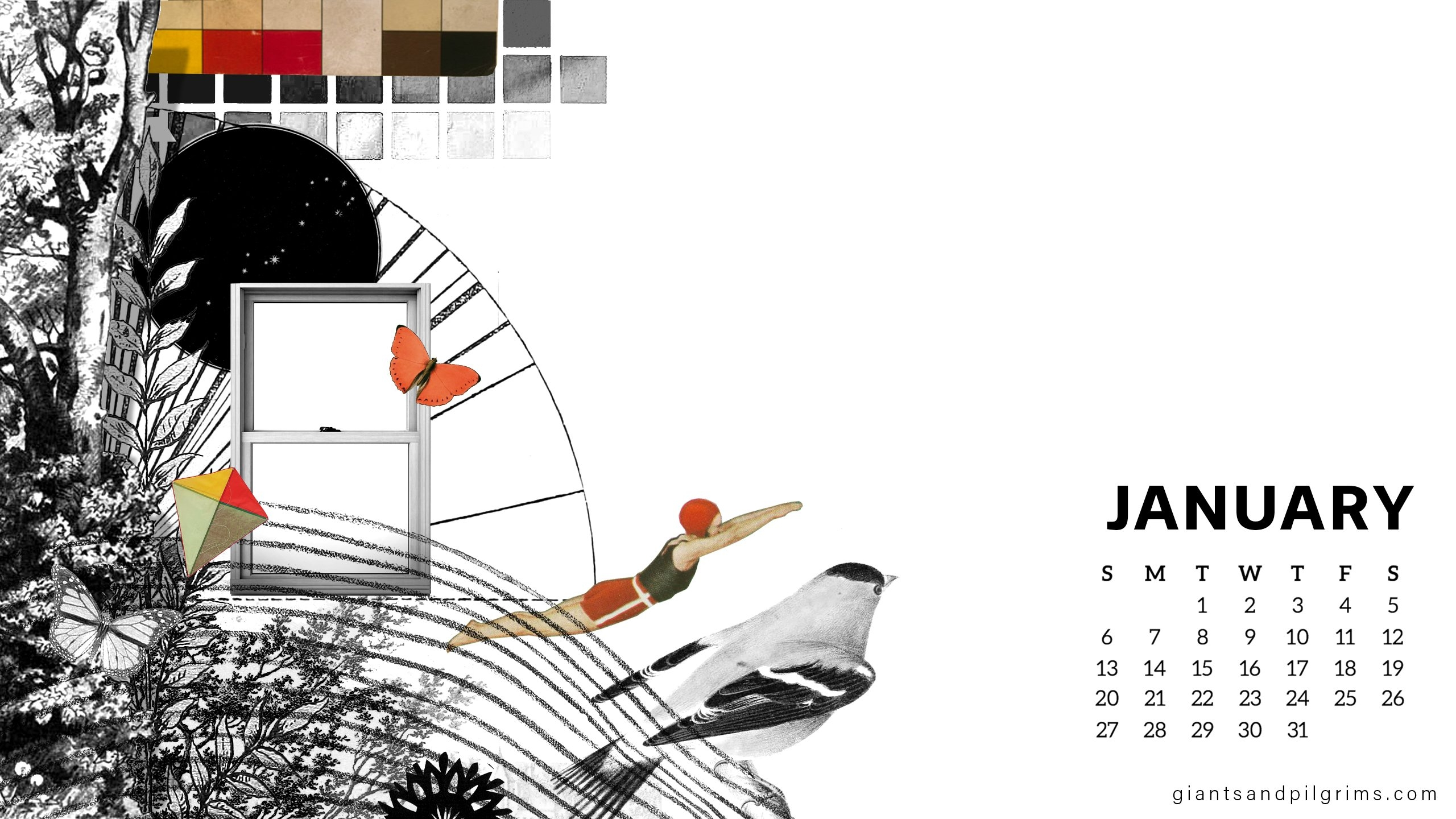 January 2019 Free Desktop And Iphone Wallpaper – Giants & Pilgrims Calendar 2019 On My Iphone