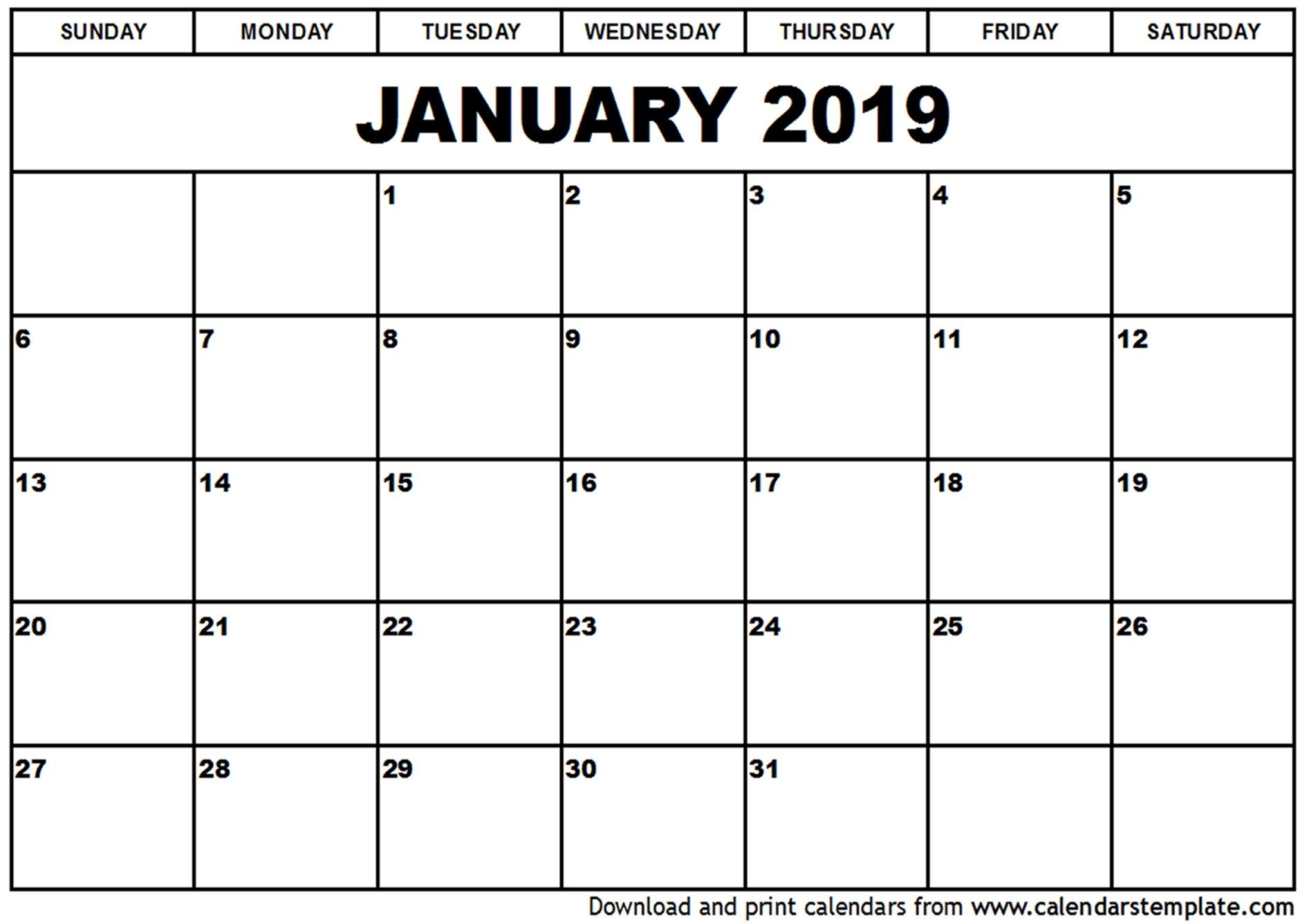 January 2019 Printable Calendar   2018 Yearly Calendar Calendar 2019 Za Printanje