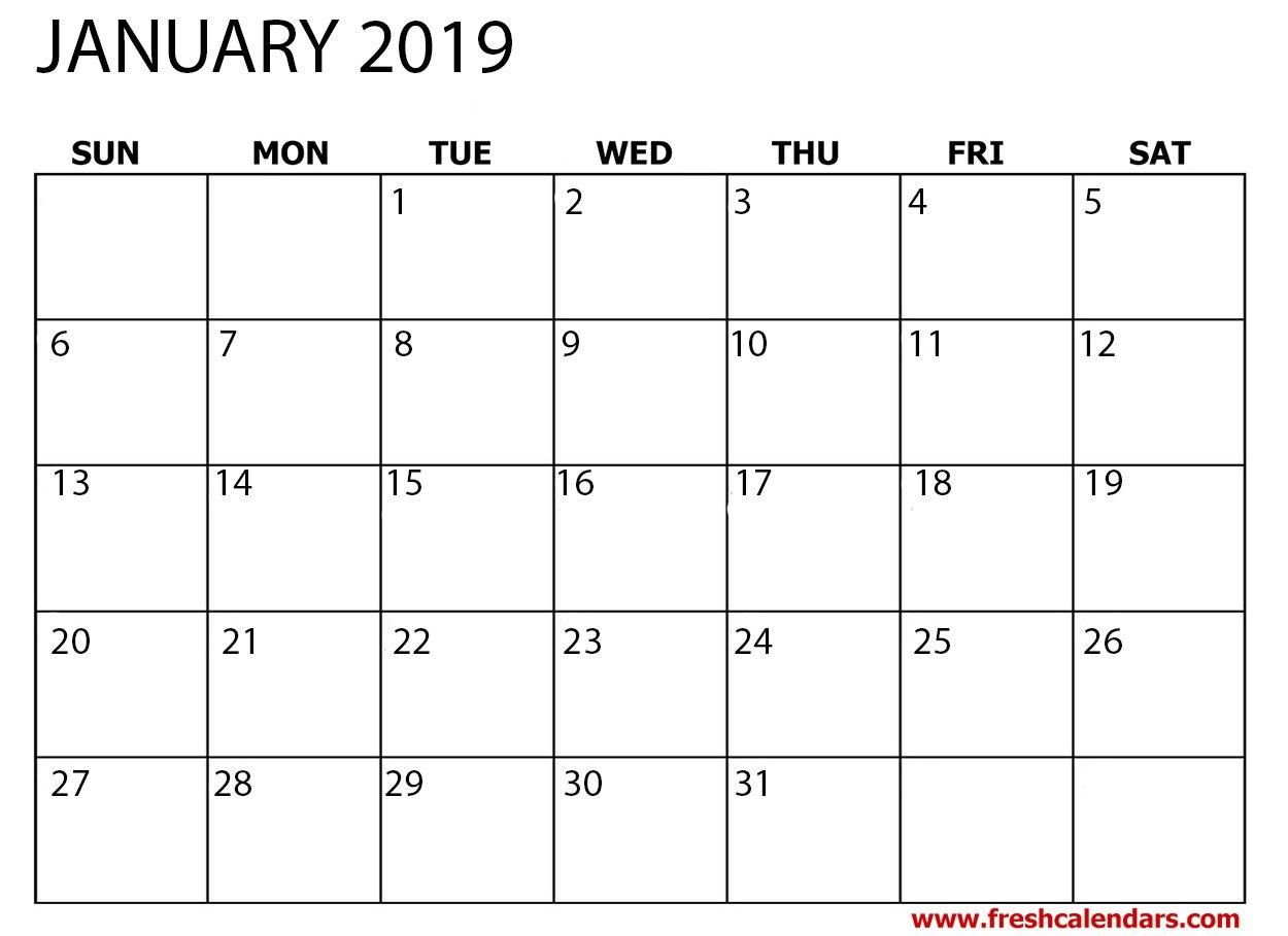 January 2019 Printable Calendars – Fresh Calendars January 5 2019 Calendar
