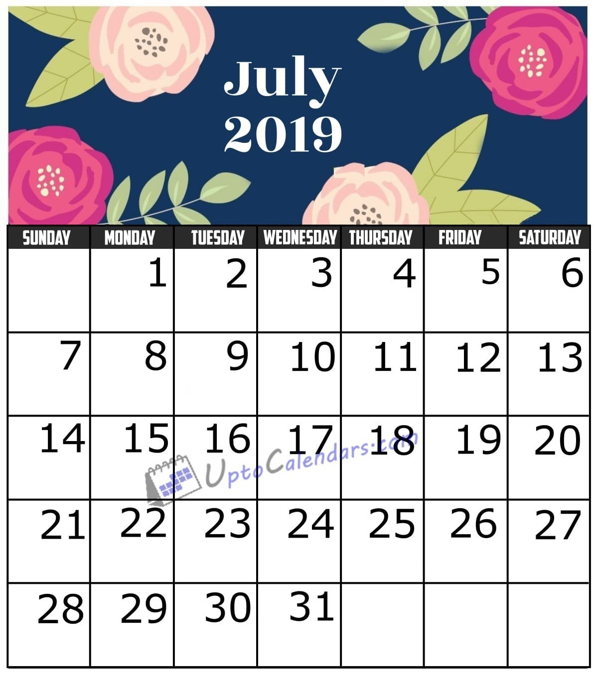 July 2019 Calendar Printable Template With Holidays Pdf Word Excel July 9 2019 Calendar