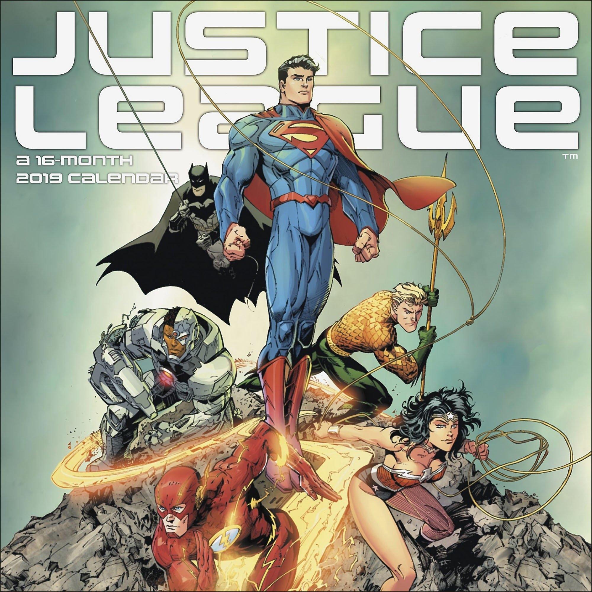 Justice League 2019 Calendar J Scott Campbell Calendar 2019