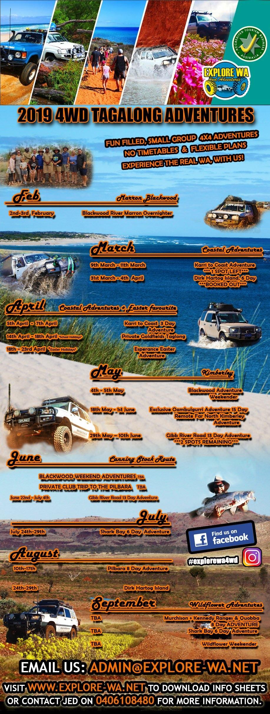 Karri To Coast 3 Day Tag A Long – Explore Wa 4Wd Calendar 2019