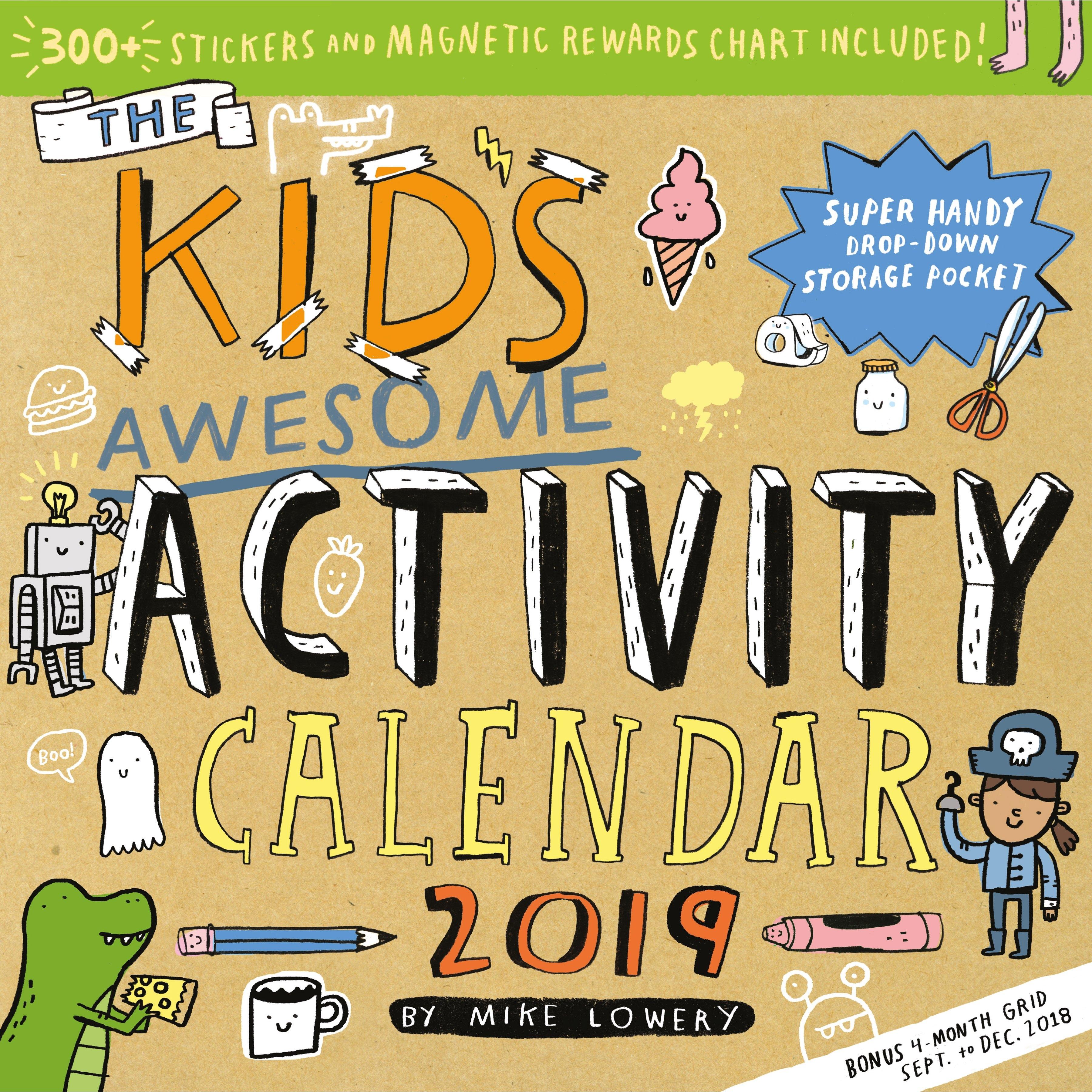 Kid's Awesome Activity Wall Calendar 2019 – Walmart Calendar 2019 Walmart