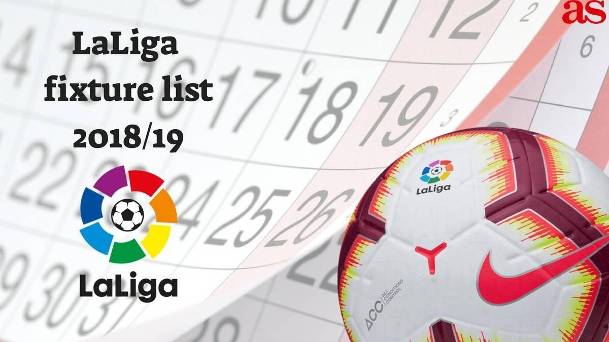 Laliga 2018/19 Fixture List Announcement Live: How To Follow, Times Ligue 1 Calendar 2019