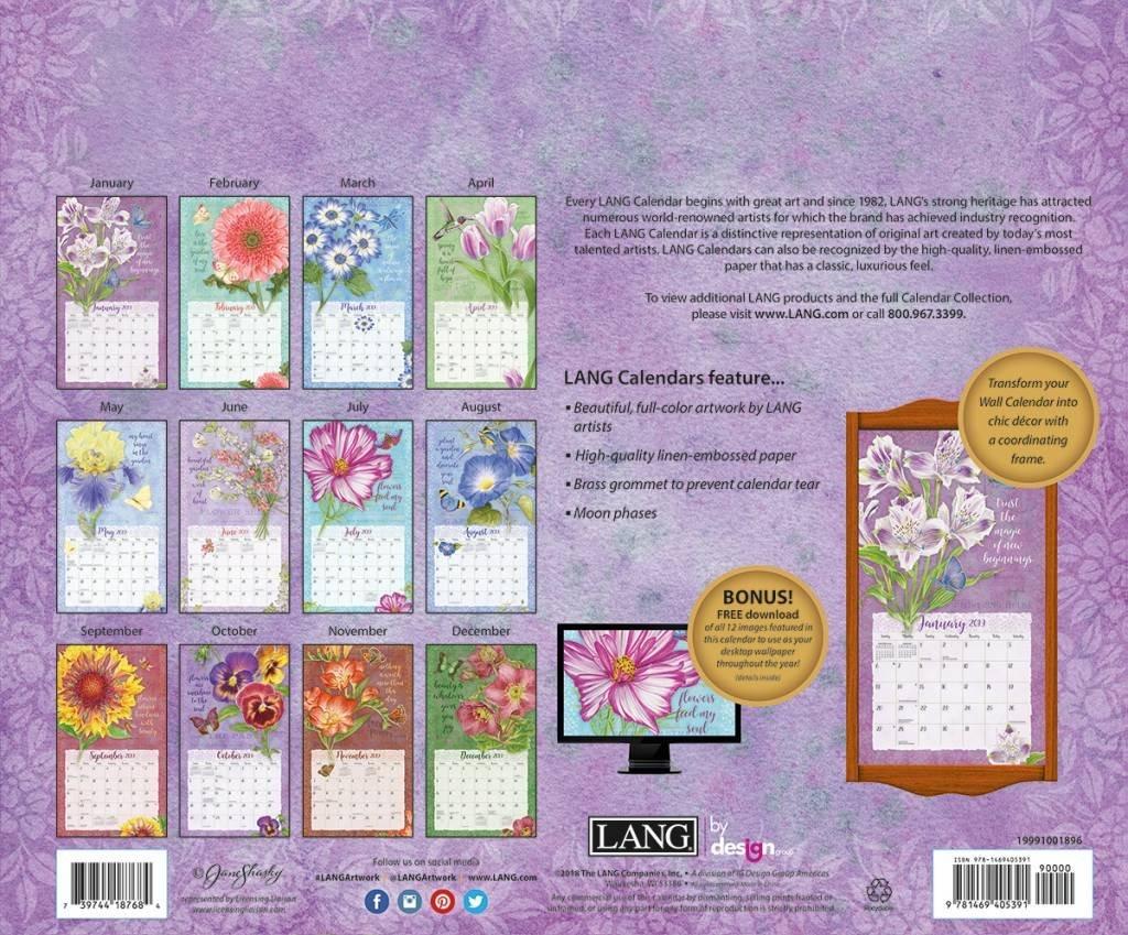 Lang Calendar 2019 Botanical Inspiration   The Lang Store Calendar 2019 Lang
