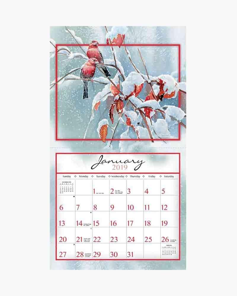 Lang Songbirds 2019 Wall Calendar   The Paper Store Calendar 2019 Lang
