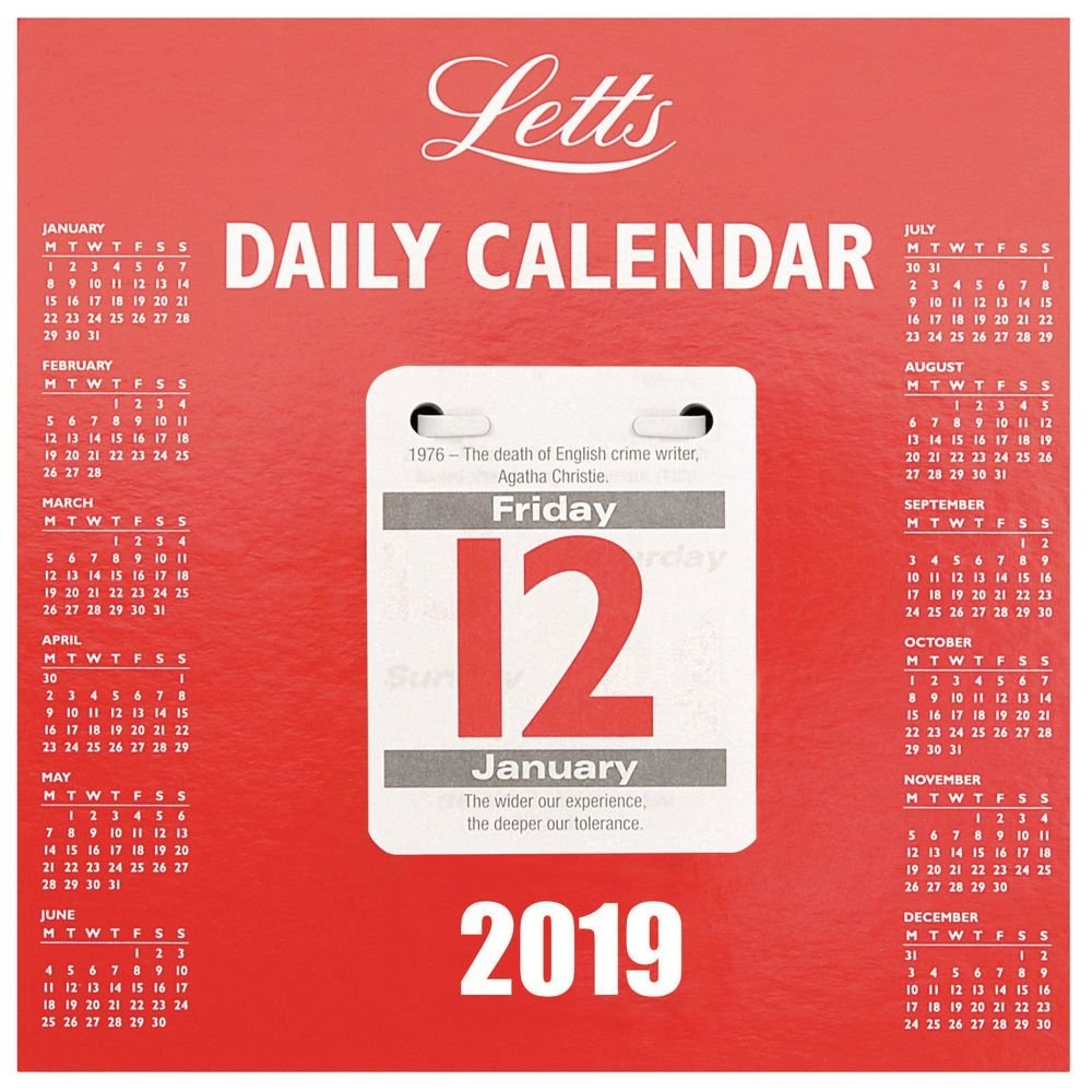 Letts 2019 Daily Tear Off Calendar | Staples® Calendar 2019 Daily