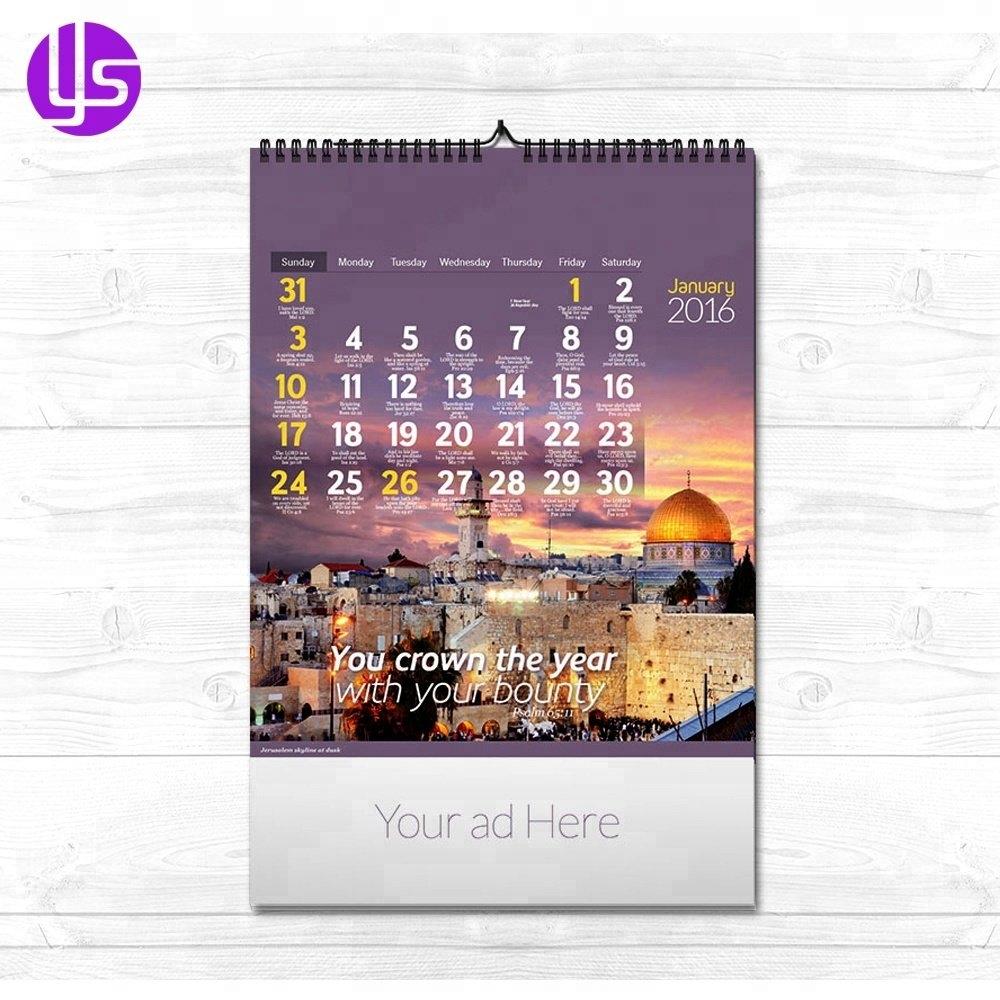 Manufacturer Wholesale 2019 Cheap Custom A3 Promotion Scroll Photo Calendar 2019 Cheap