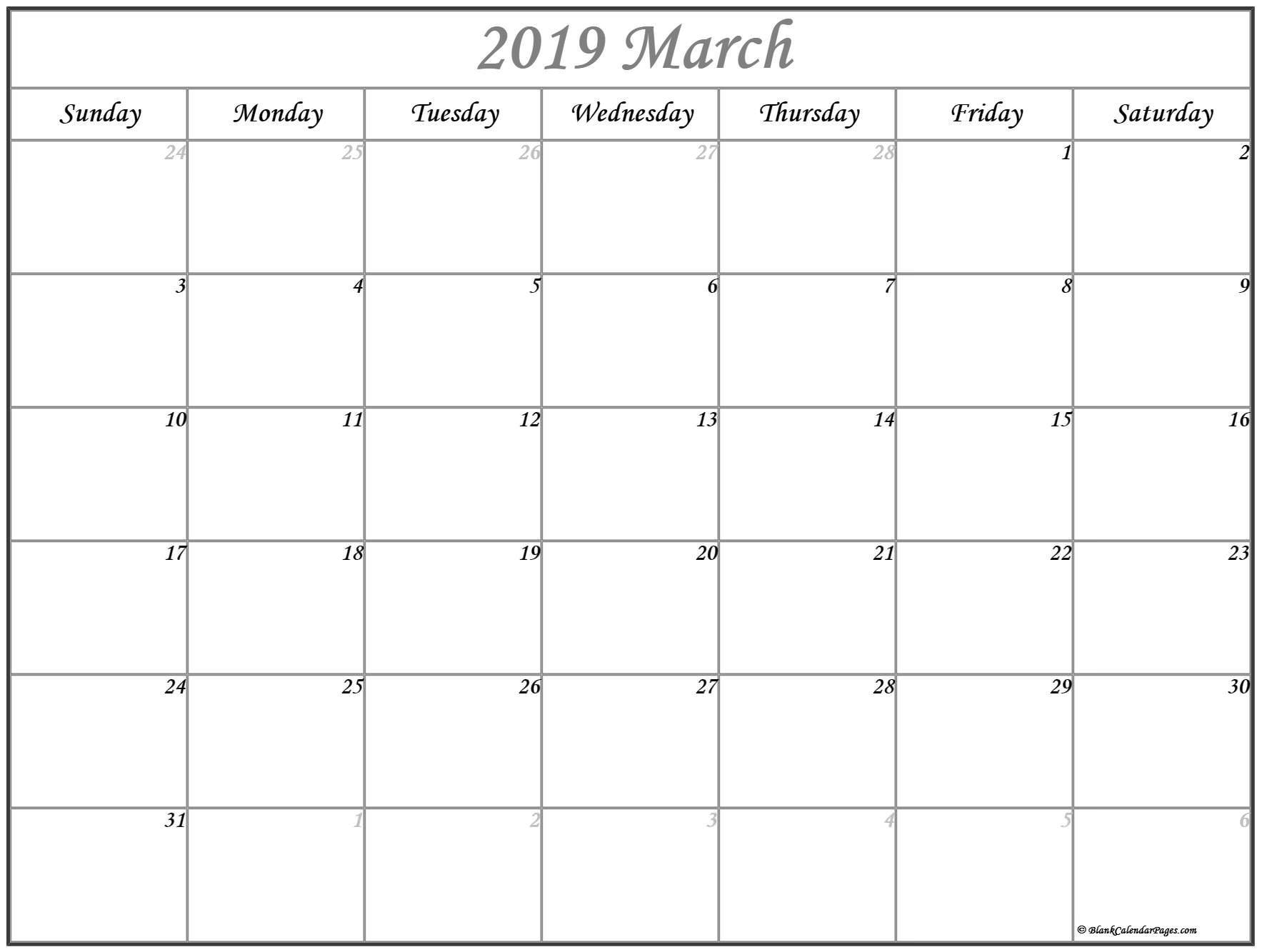 March 2019 Calendar   56+ Templates Of 2019 Printable Calendars Calendar 2019 Agenda