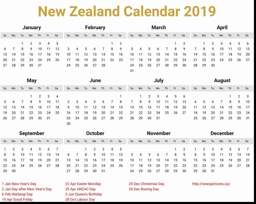 March 2019 Calendar Nz | Calendar Format Example Printable Calendar 2019 Calendar Nz