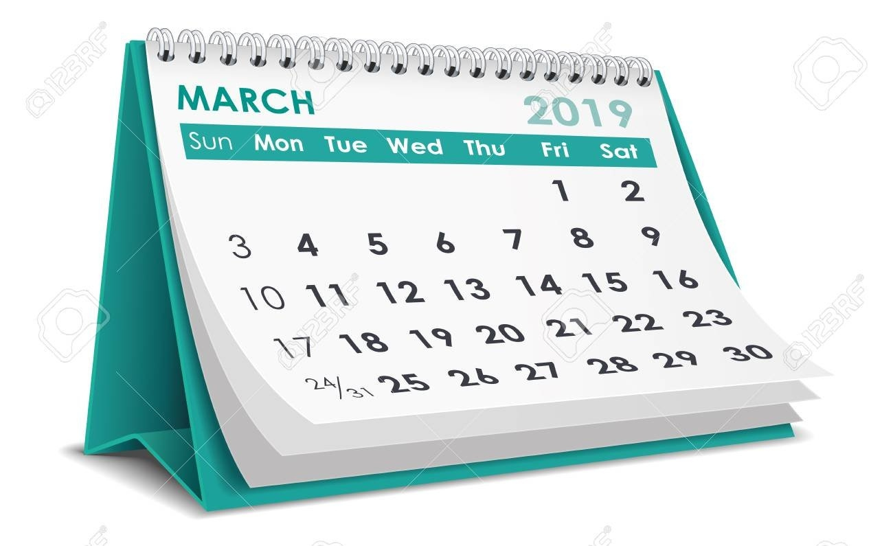 March 2019 Calendar Royalty Free Cliparts, Vectors, And Stock March 6 2019 Calendar