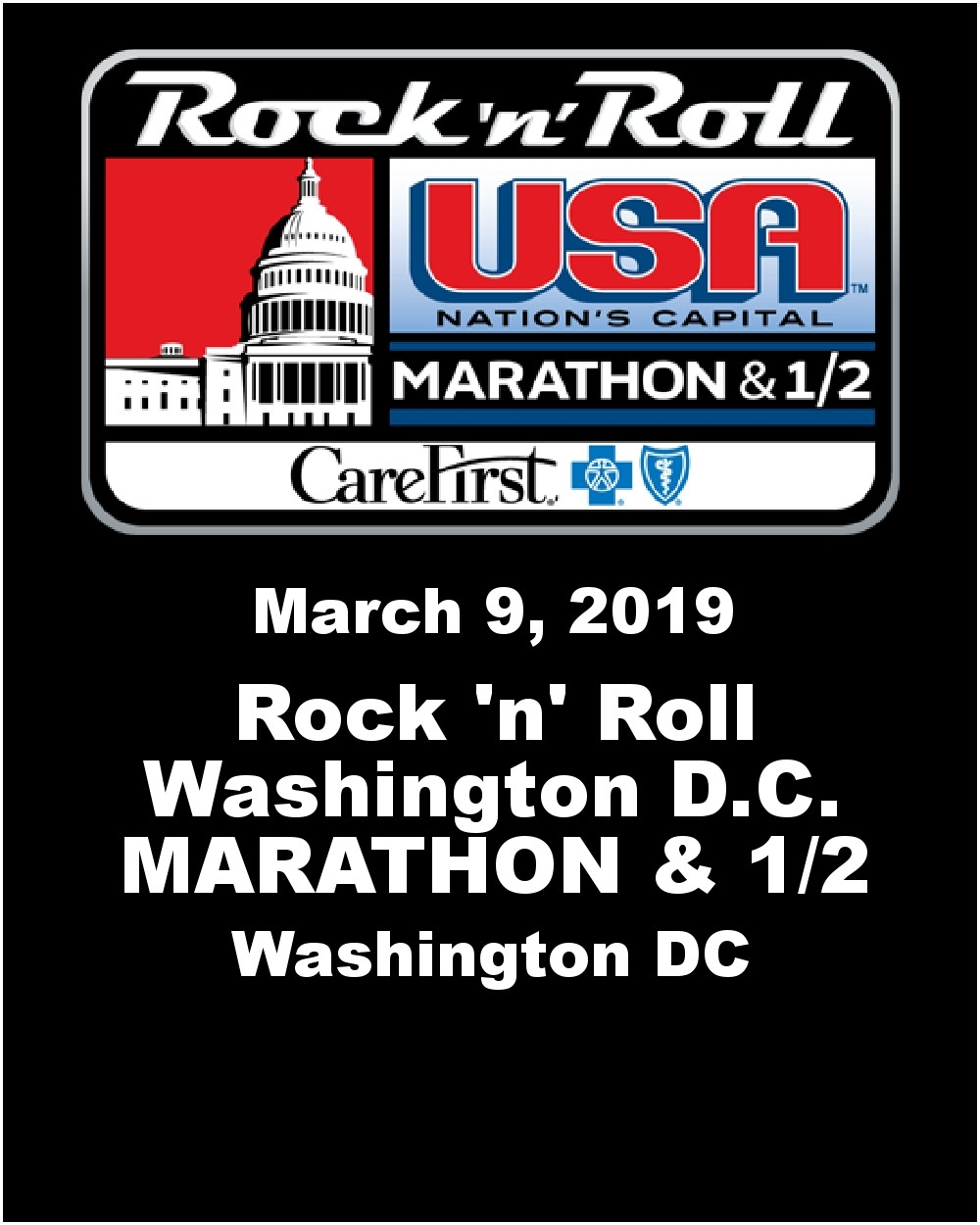 March 2019 Marathon Calendar   Template Calendar Printable Rock N Roll Calendar 2019