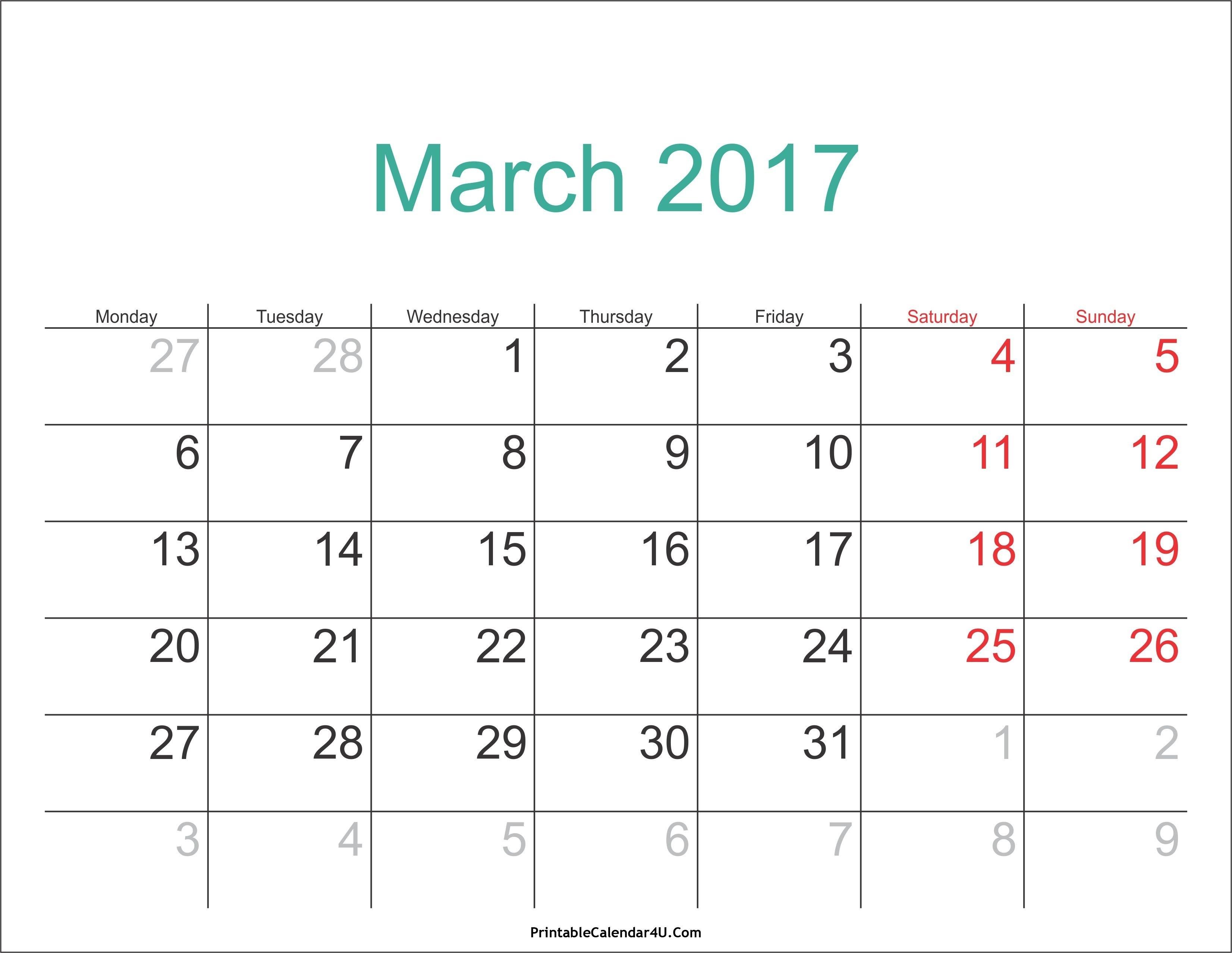 March 3 2019 Calendar   Calendar Format Example 3/2019 Calendar