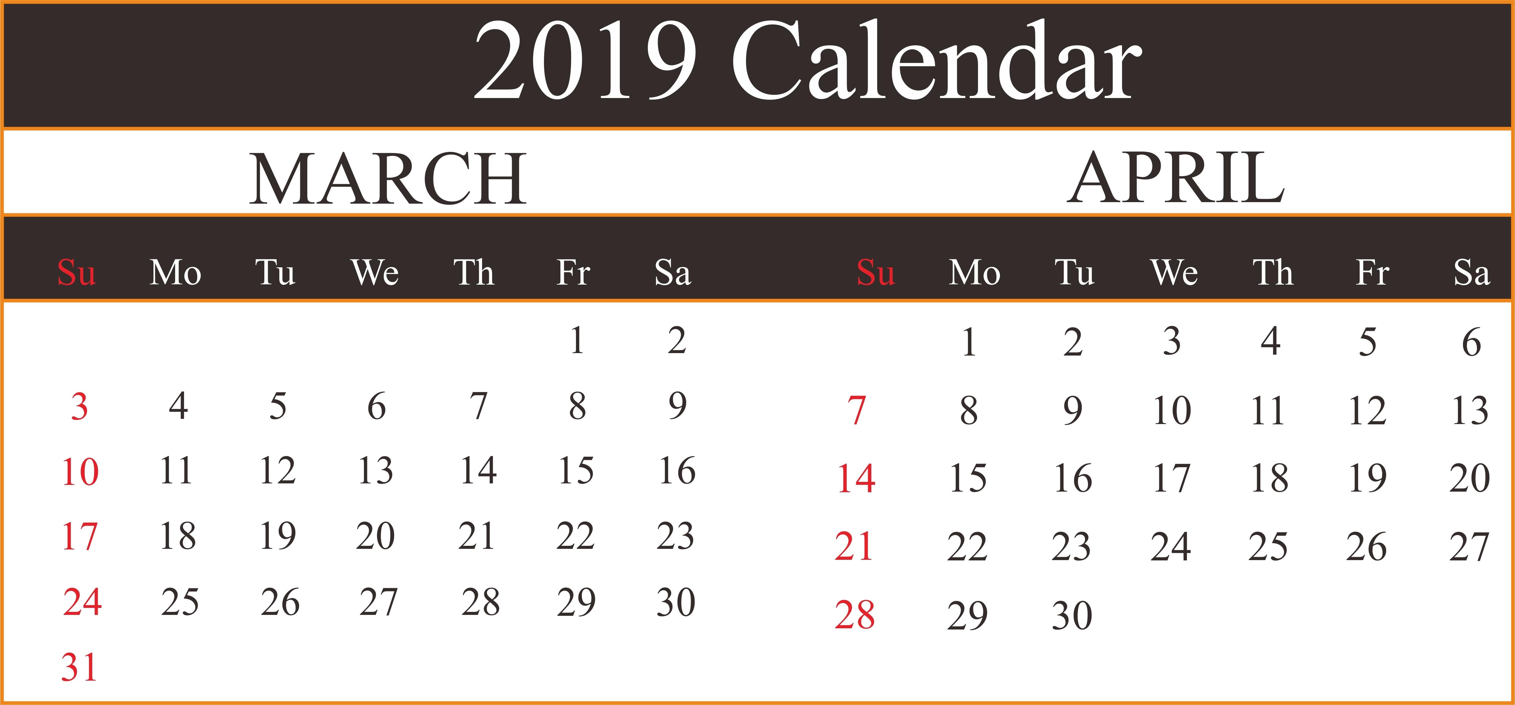 March 7 2019 Calendar | Calendar Format Example March 7 2019 Calendar