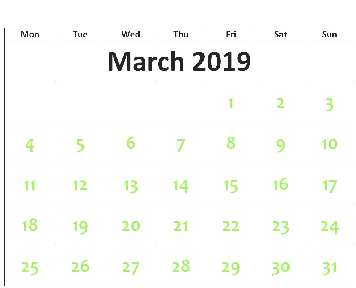 March Calendar For 2019 – 2018 Printable Calendar Store March 4 2019 Calendar