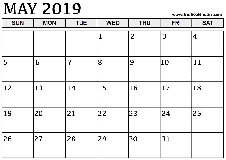 May 2019 Printable Calendars – Fresh Calendars Calendar May 4 2019