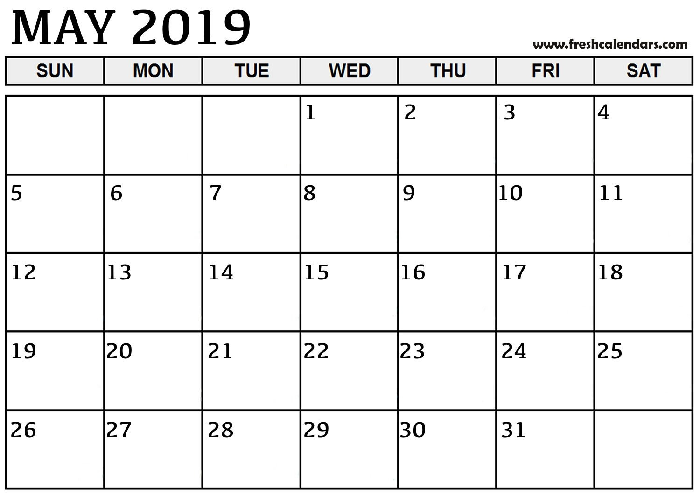 May 2019 Printable Calendars – Fresh Calendars Calendar Of 2019 May