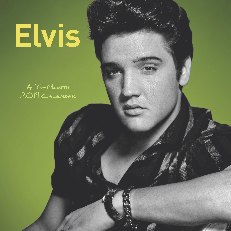 "Mead® Elvis Presley 2019 Monthly Wall Calendar, 12"" X 12"" – Walmart X Calendar 2019 Models"