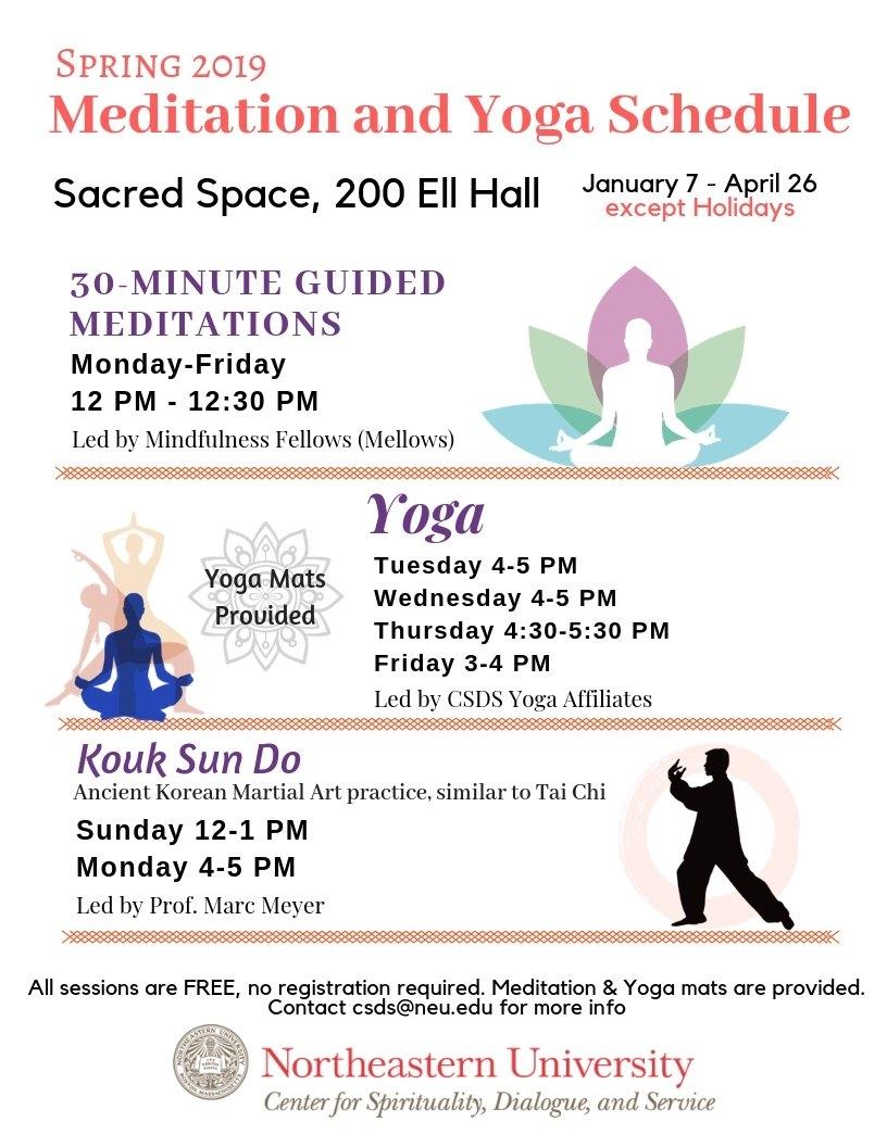 Meditation, Mindfulness, And Spiritual Practices | Spirituallife Calendar 2019 Northeastern