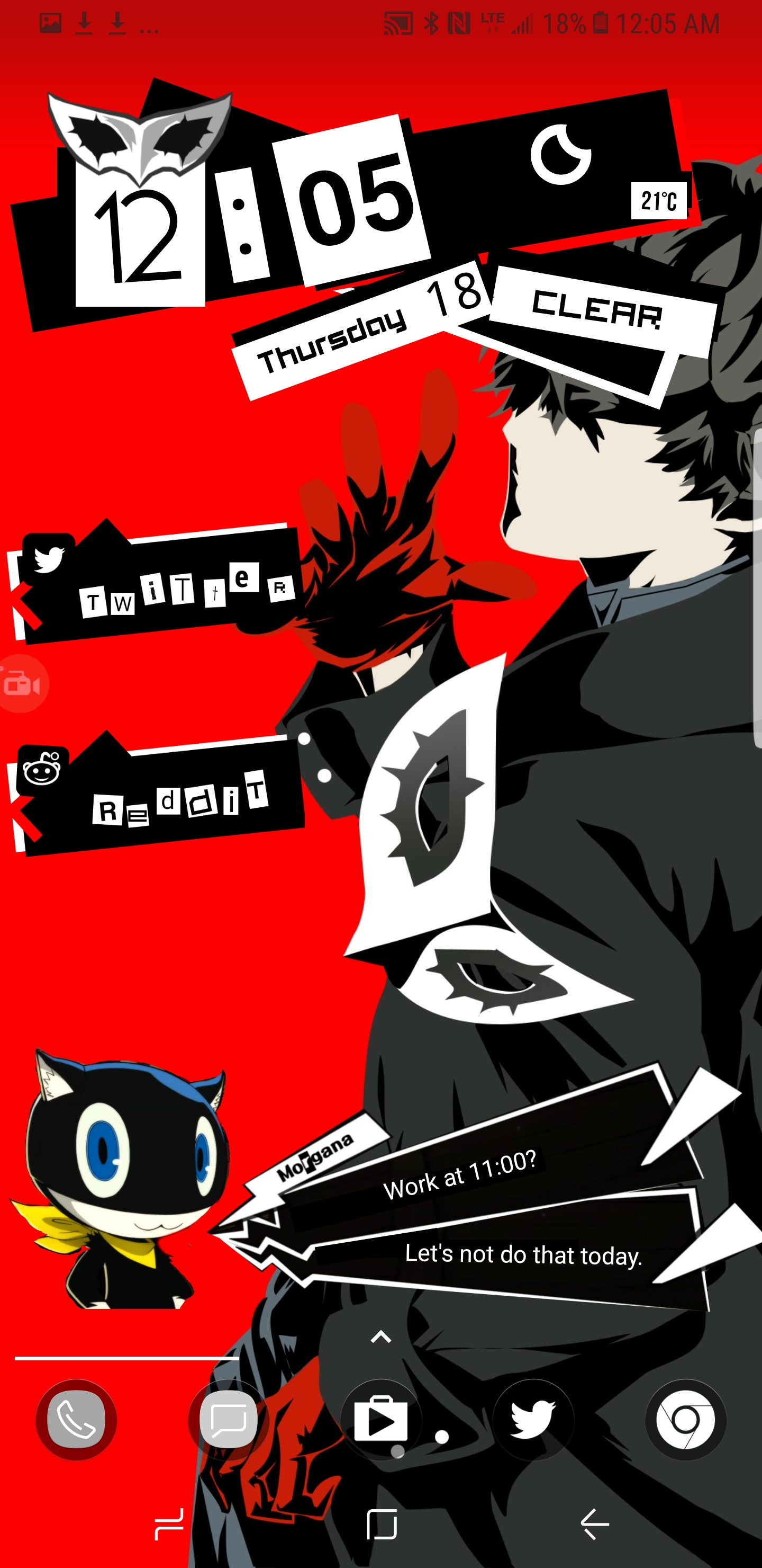 Morgana Calendar Widget For Android – Adding On To Previously Posted Persona 5 Calendar 2019