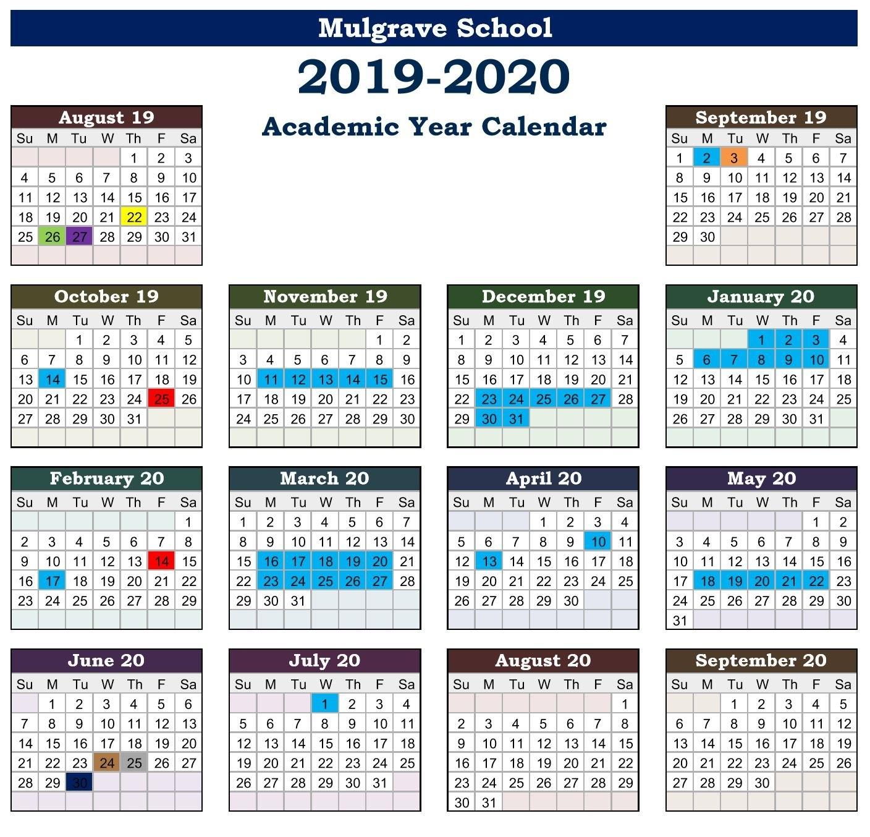 Mulgrave School – Calendars U Of W Calendar 2019