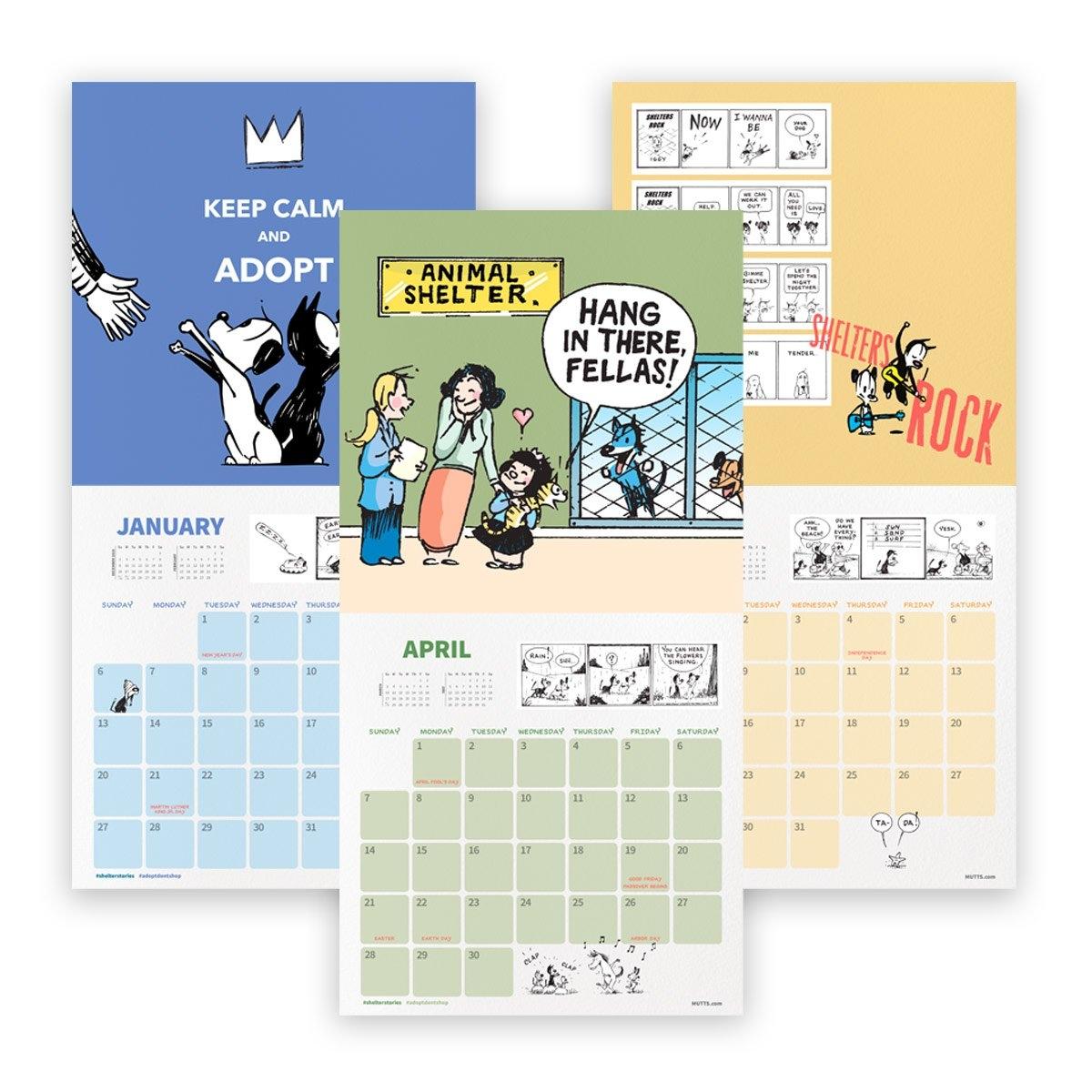Mutts 2019 Wall Calendar   Mutts Calendar 2019 For Sale