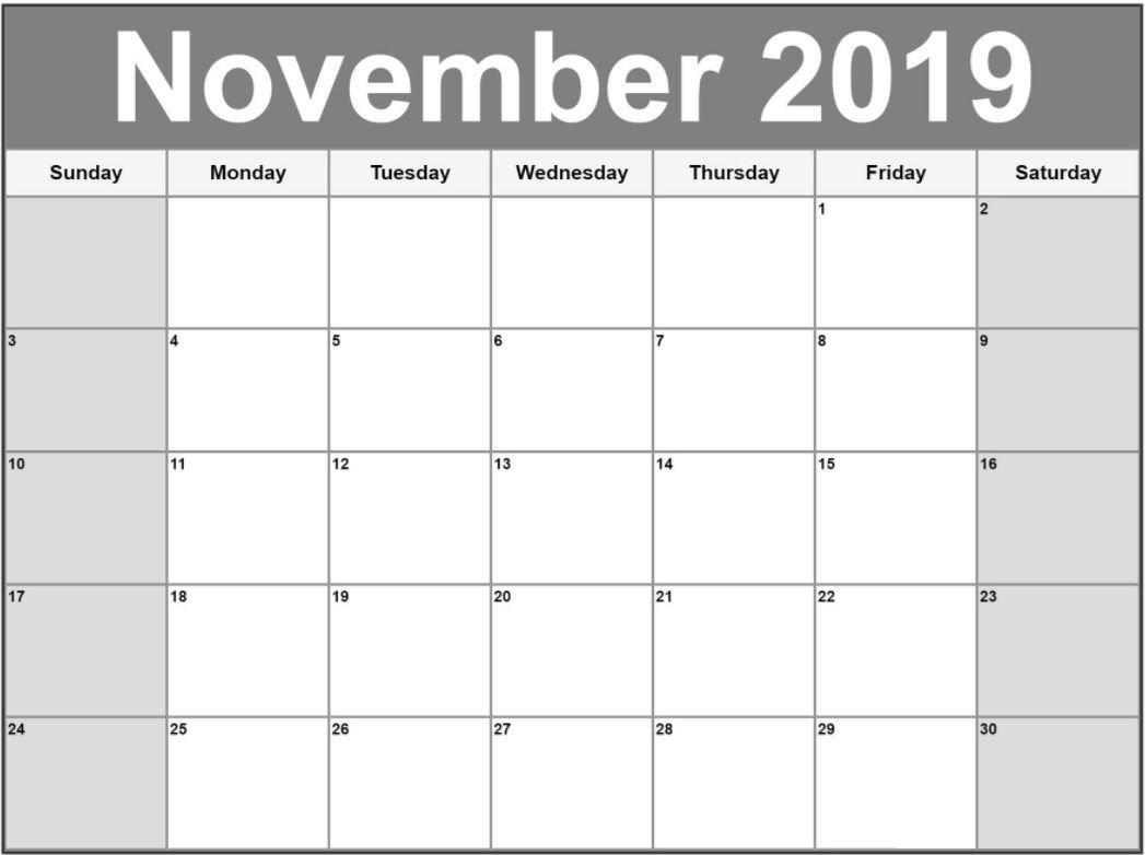 November 2019 Calendar Template | Calendar 2018 | Pinterest Calendar 2019 Schedule