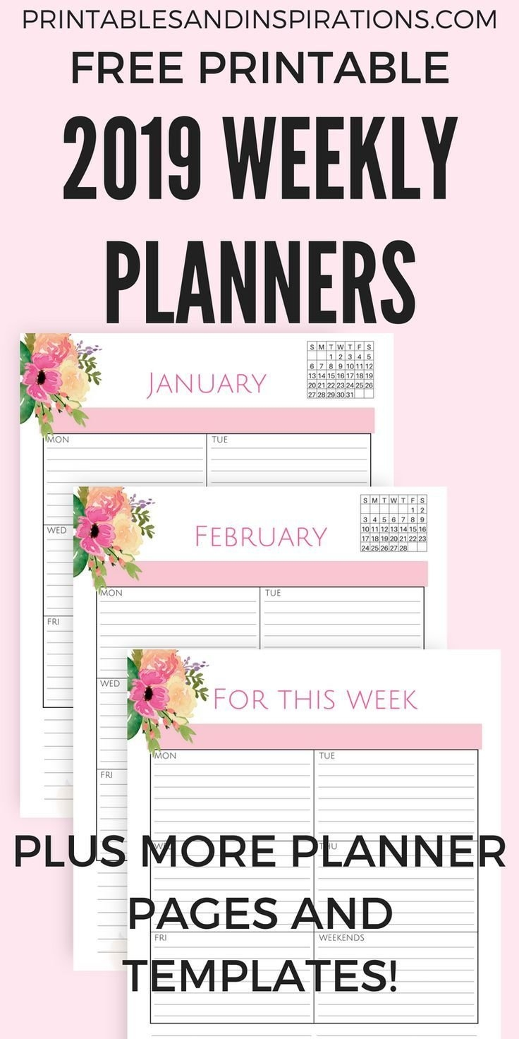 Our Pink 2019 Life Planner Calendar Free Printable Is Here | Diy And Calendar 2019 Neu
