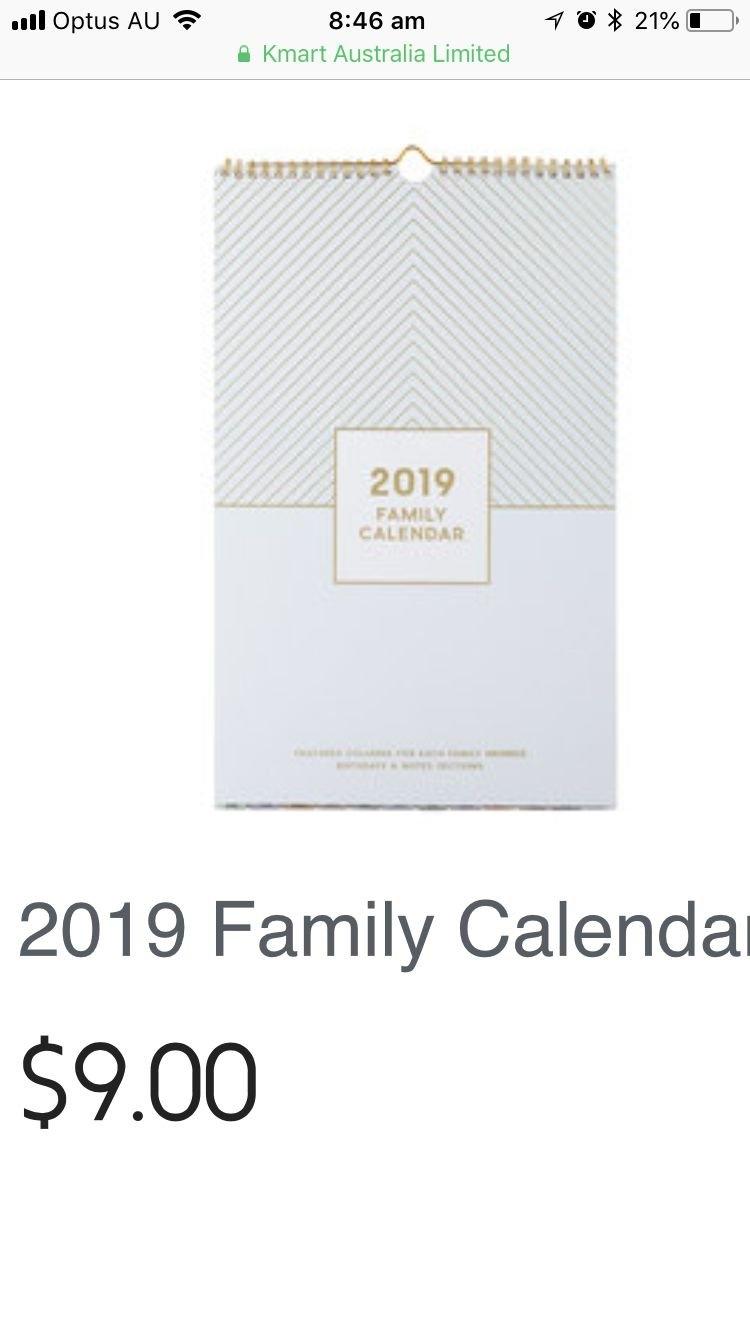 Pinsally On Kmart | Pinterest Calendar 2019 Kmart
