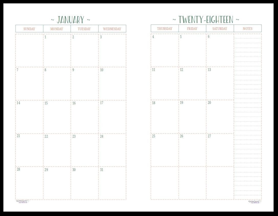 Printable 2 Page Monthly Calendar   Printable Calendar Templates 2019 2 Page Monthly Calendar 2019 Printable