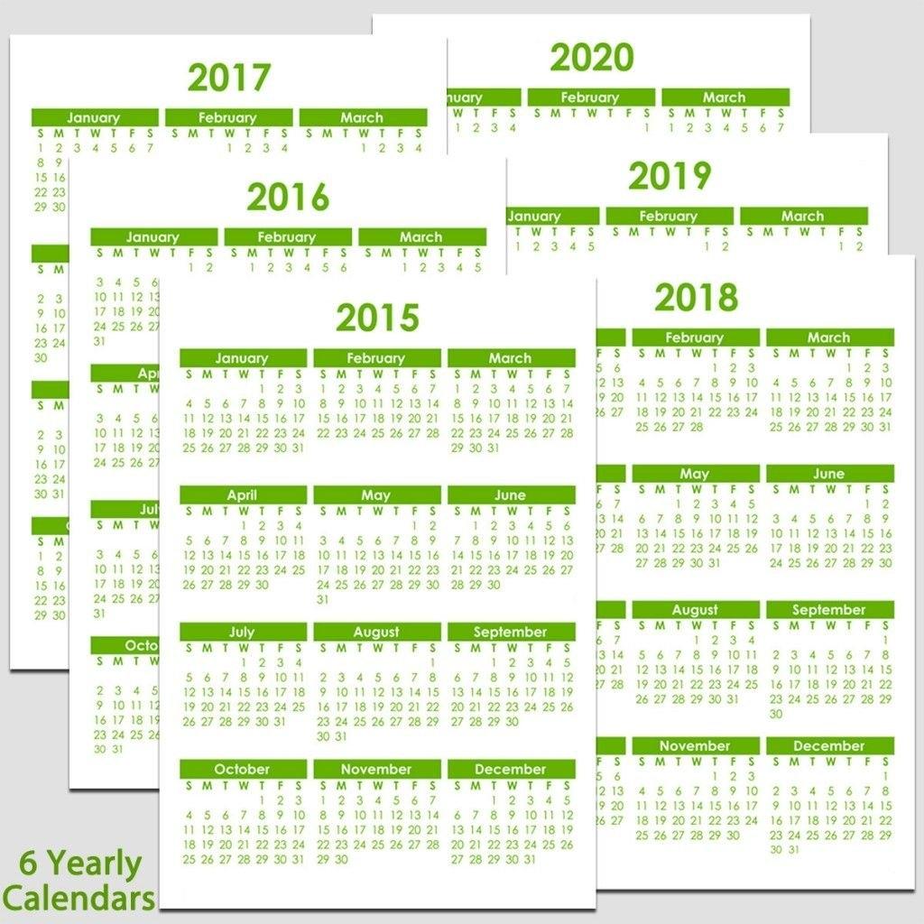 Printable 2015 To 2020 Yearly Calendar – 8 1/2″ X 11″. The Calendars 2019 Calendar 8 1/2 X 11