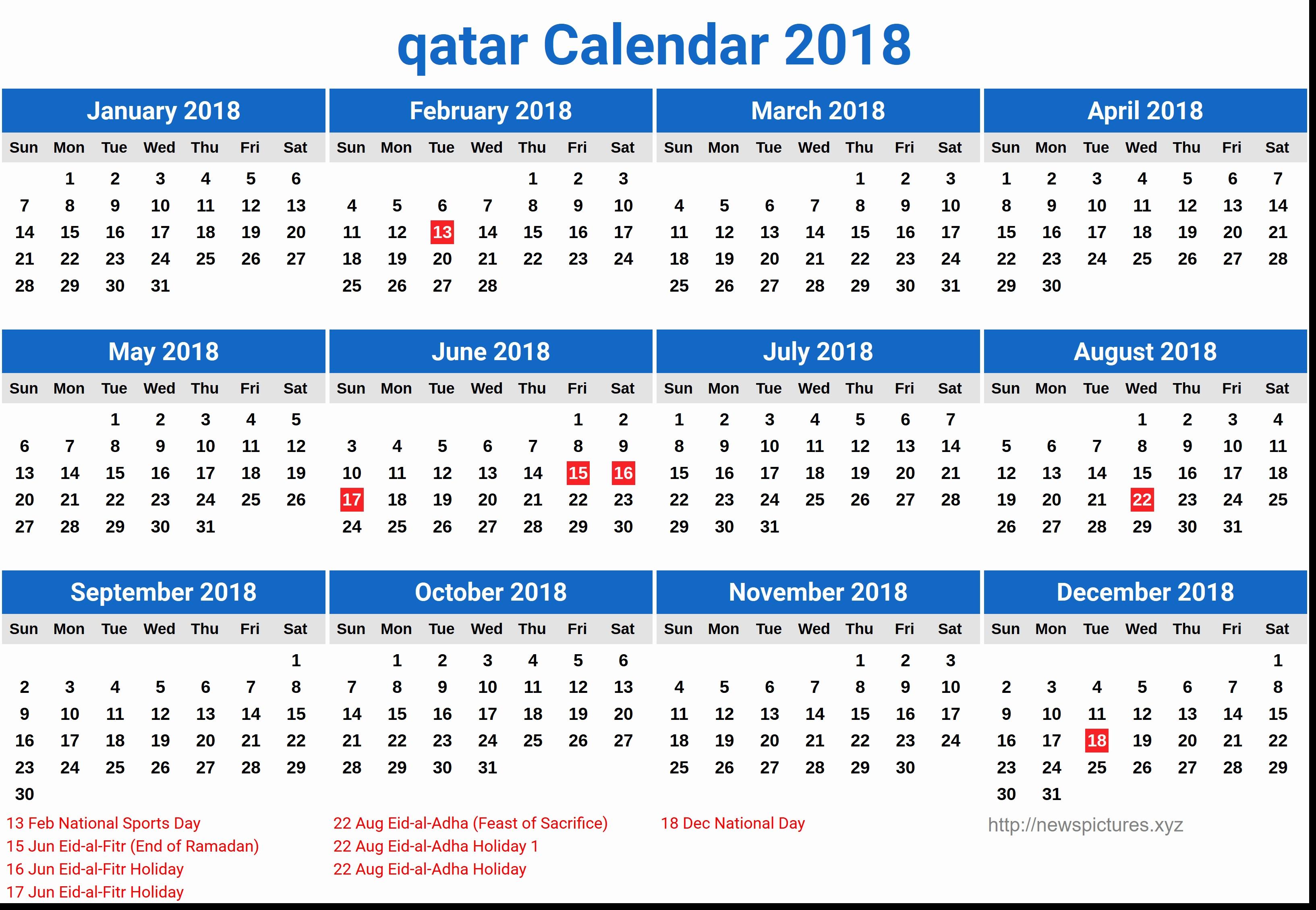 Printable Calendar 2018 Qatar | Printable Calendar 2019 Calendar 2019 Excel Hong Kong