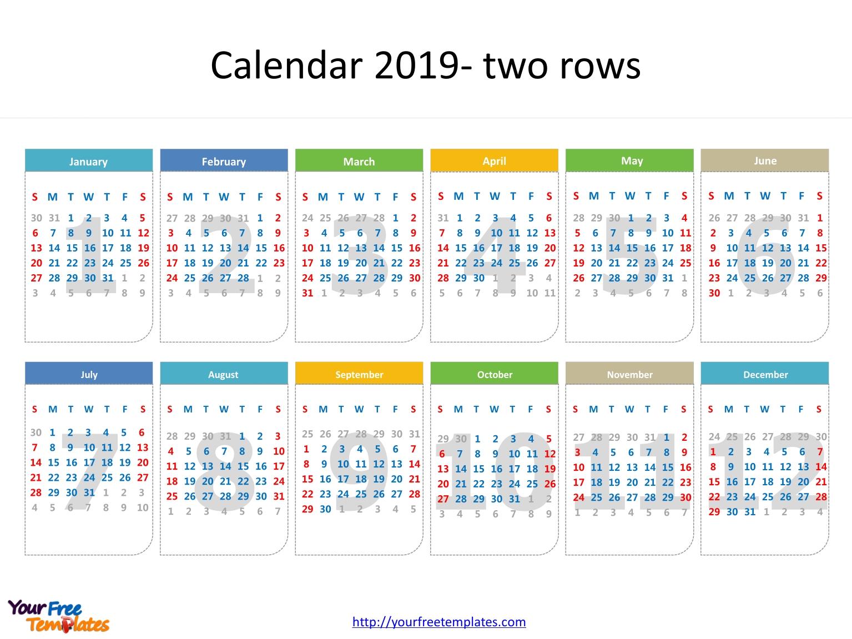 Printable Calendar 2019 Template – Free Powerpoint Templates Calendar 2019 Outline