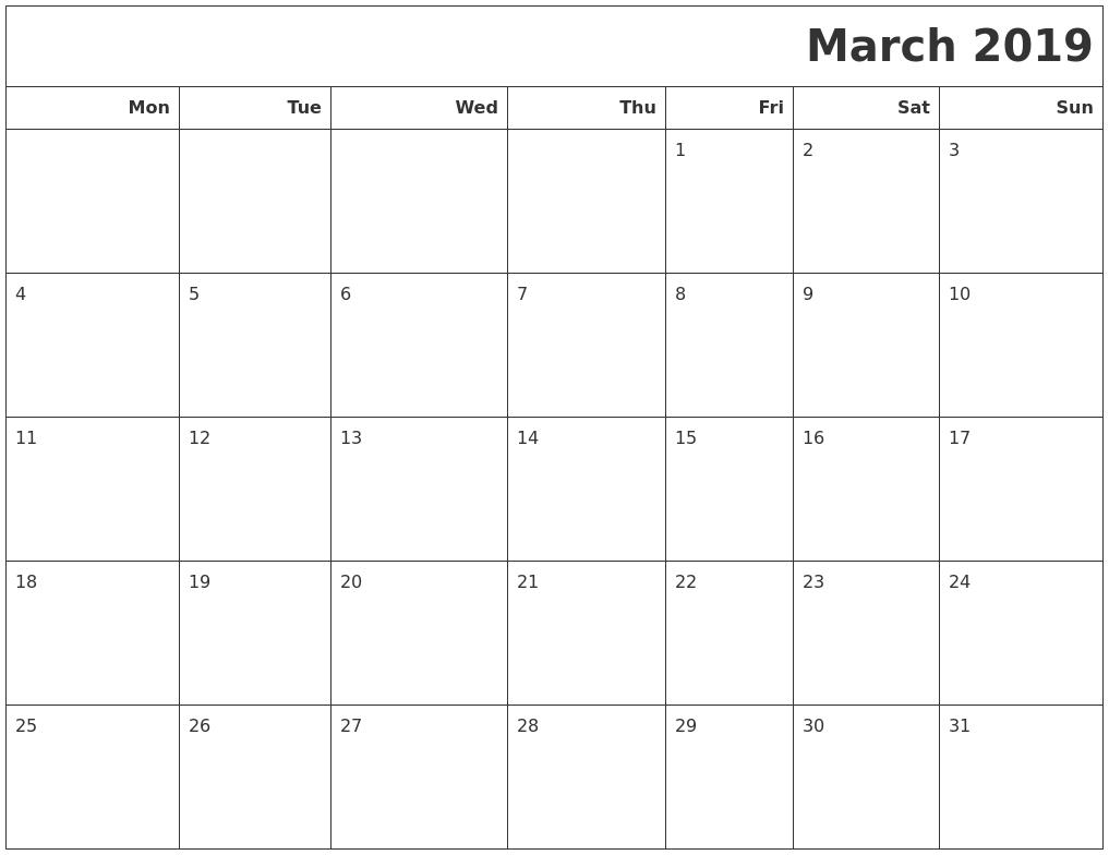 Printable Calendar Templates – Calendar Zoom 2019
