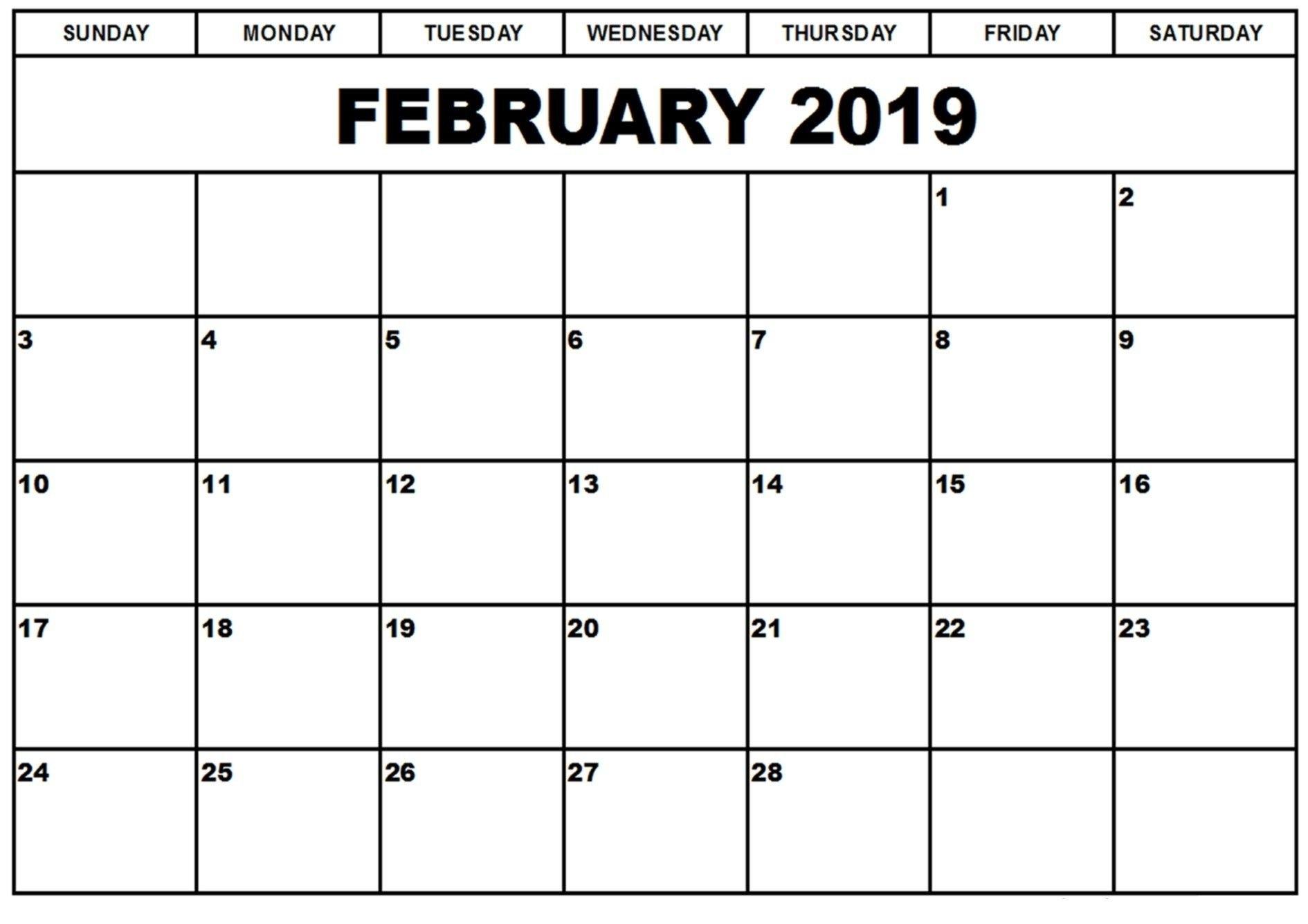 Printable Calendars Save February 2019 Calendar Printable Templates Calendar 2019 Fillable
