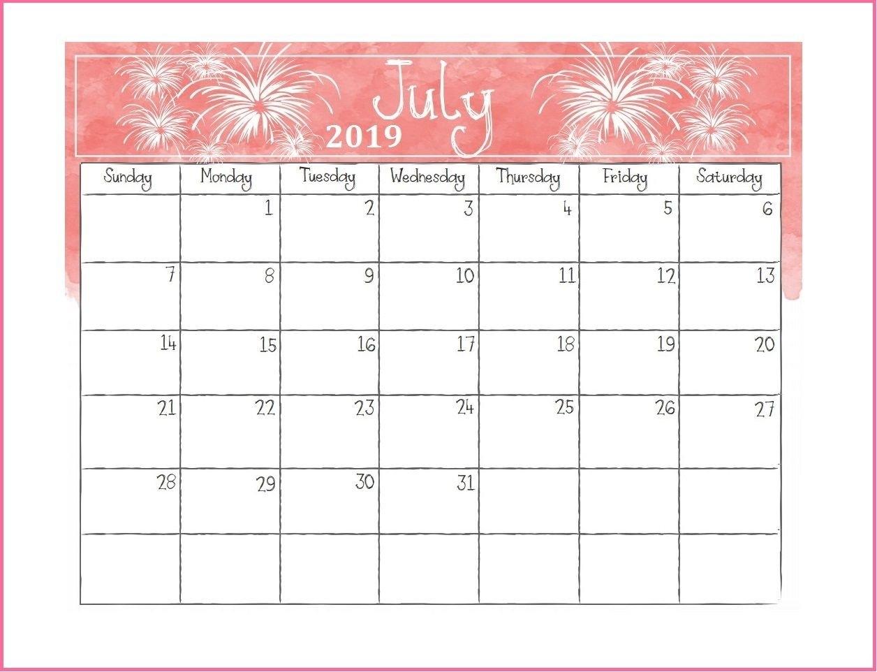 Printable July 2019 Desk Calendar   Calendars   Desk Calendars Rock N Roll Calendar 2019